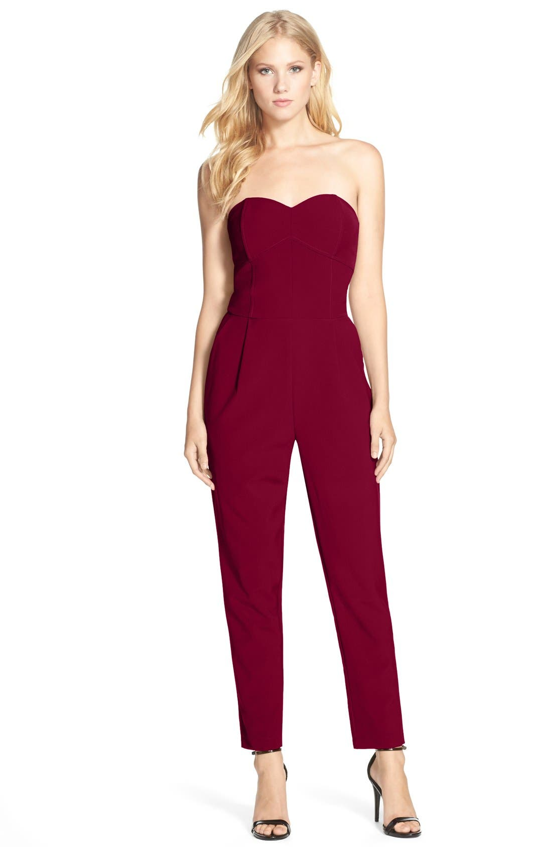 Main Image - Adelyn Rae Strapless Jumpsuit