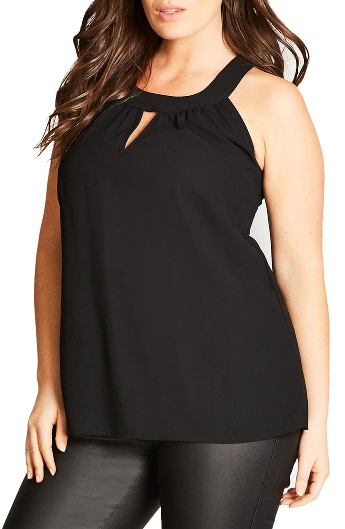 Lace Deluxe Shirt,                         Main,                         color, Black