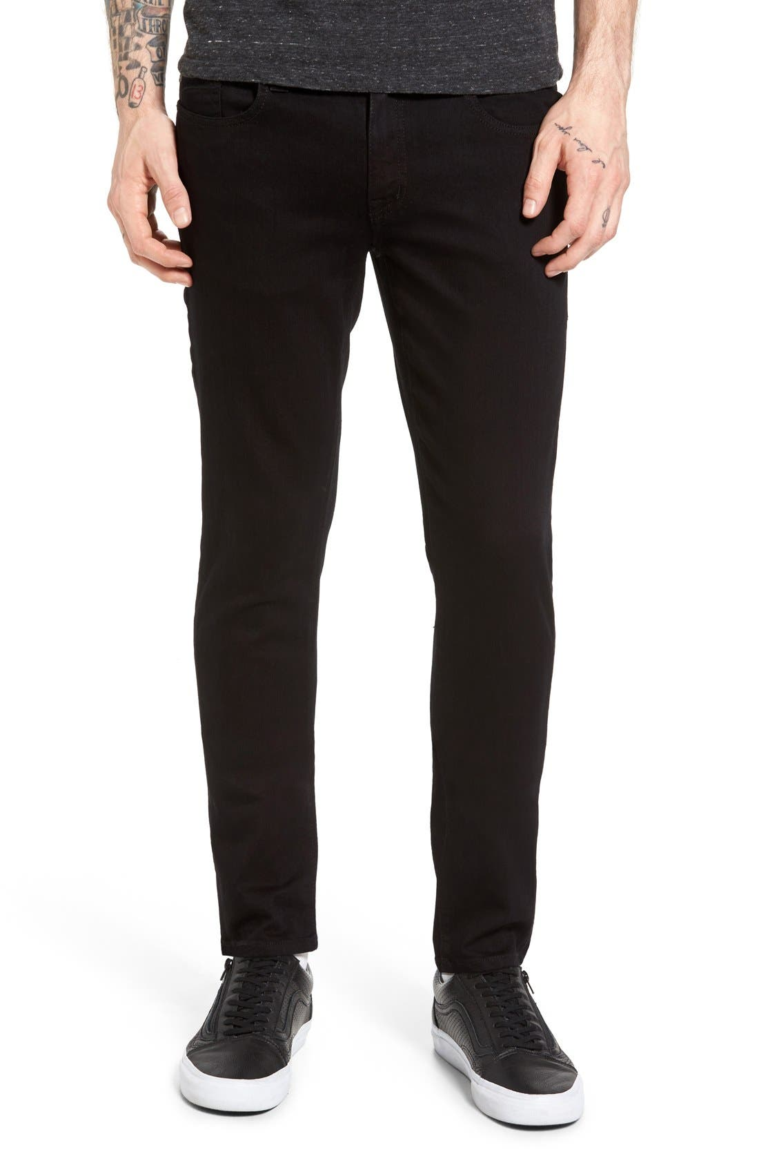 Alternate Image 1 Selected - Fidelity Denim Vantage Skinny Fit Jeans (Ever Black)