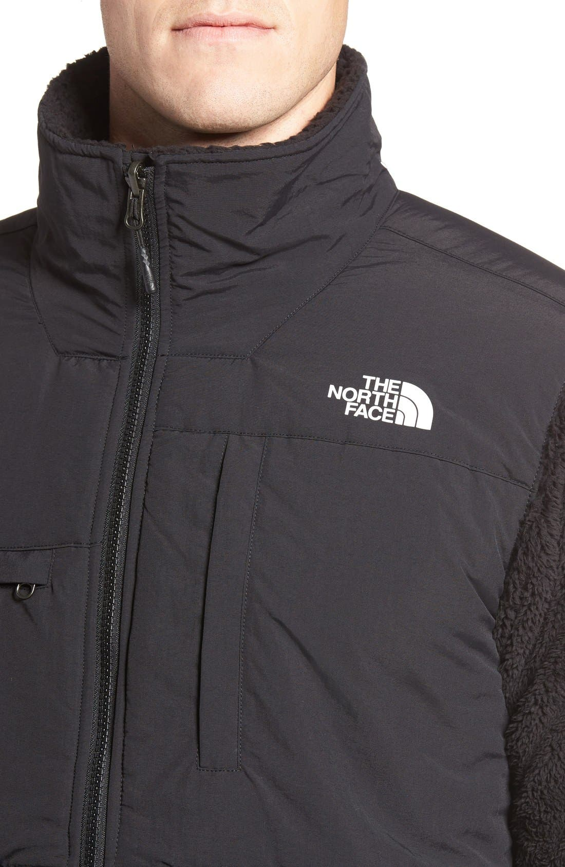 Novelty Denali Jacket,                             Alternate thumbnail 4, color,                             Tnf Black Sherpa/ Tnf Black