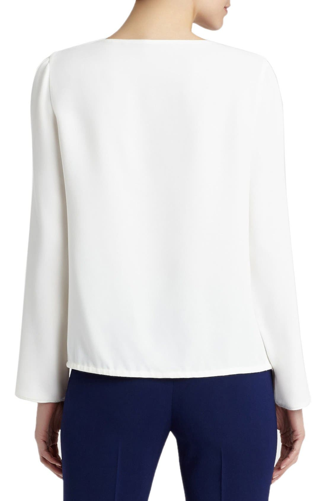 Alternate Image 2  - Lafayette 148 New York Maxina Silk Cold Shoulder Blouse