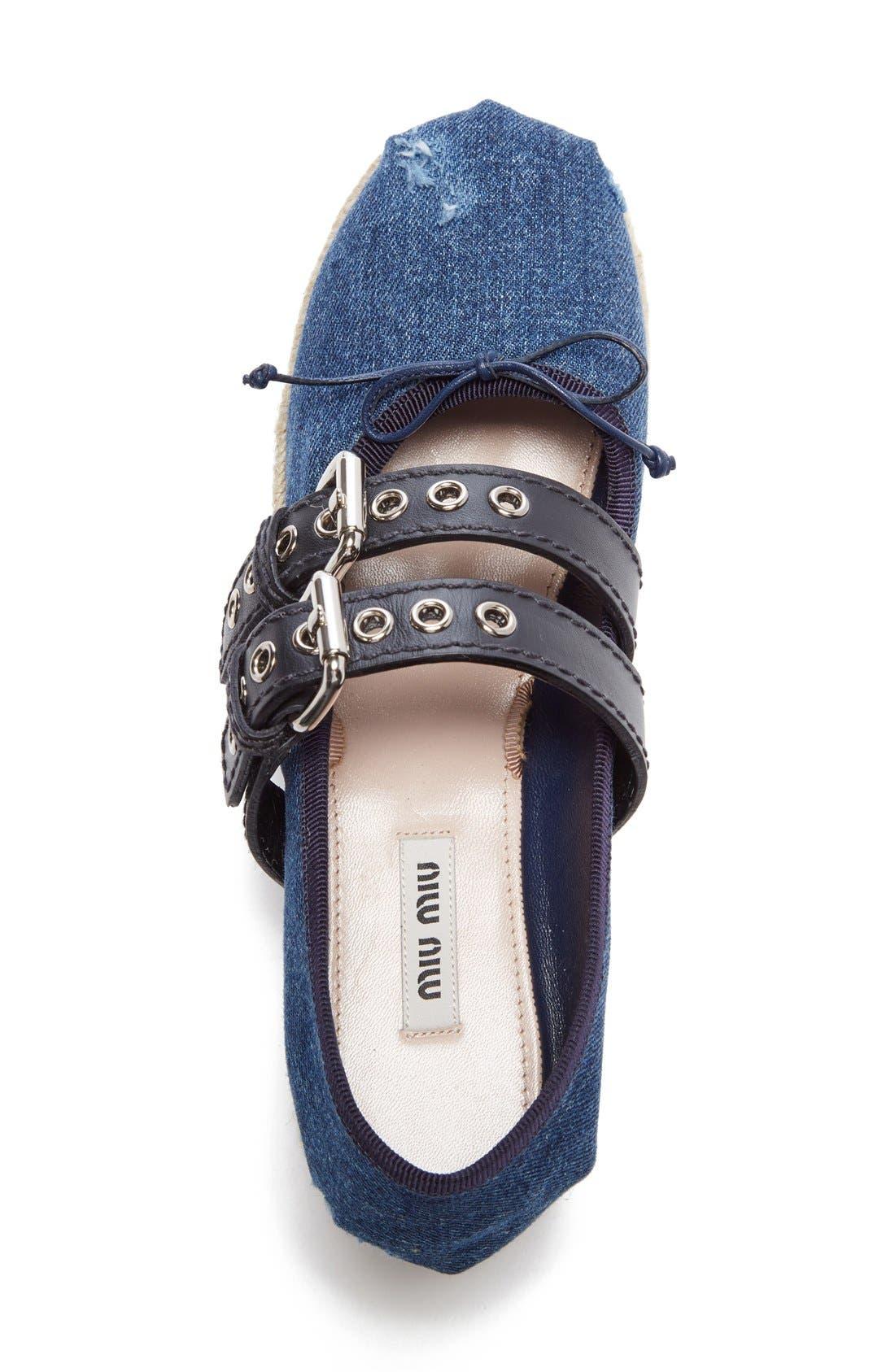 Alternate Image 3  - Miu Miu Ankle Wrap Platform Espadrille (Women)