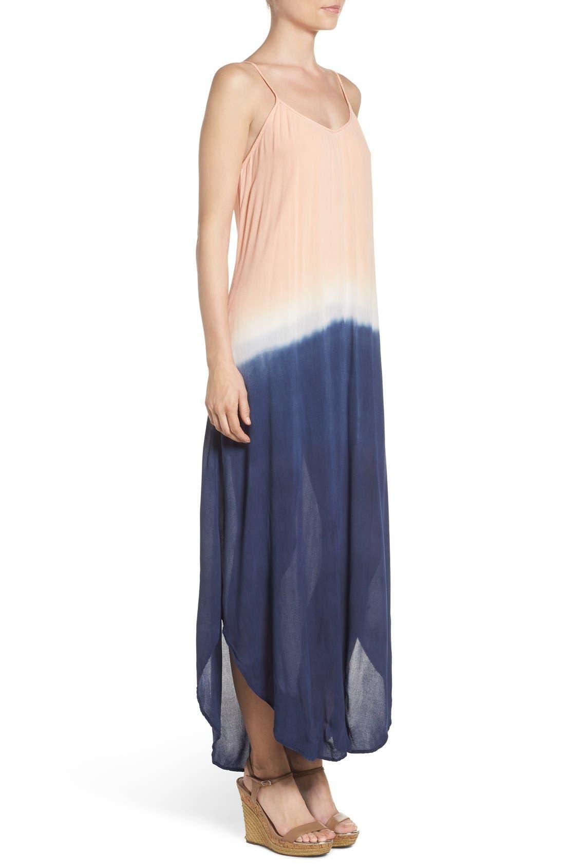Maxi Dress,                             Alternate thumbnail 3, color,                             Navy Blush