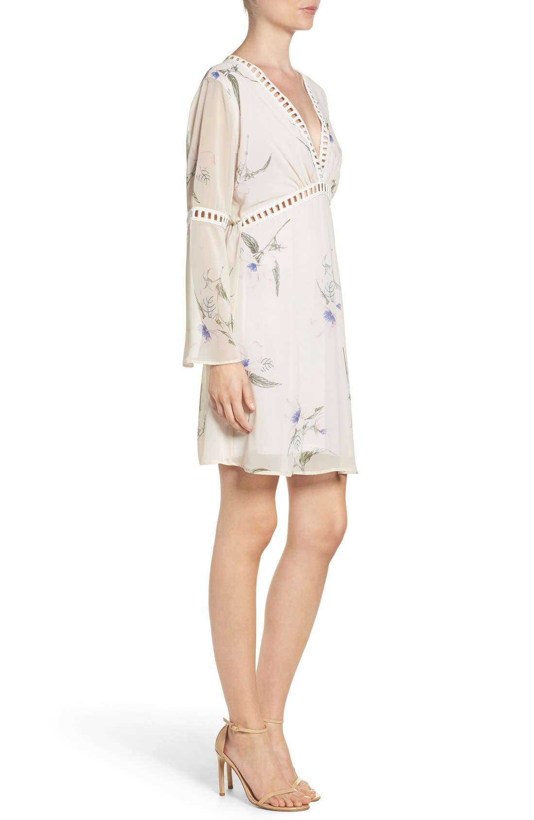 Alternate Image 3  - Fraiche by J Floral Print Chiffon Blouson Dress