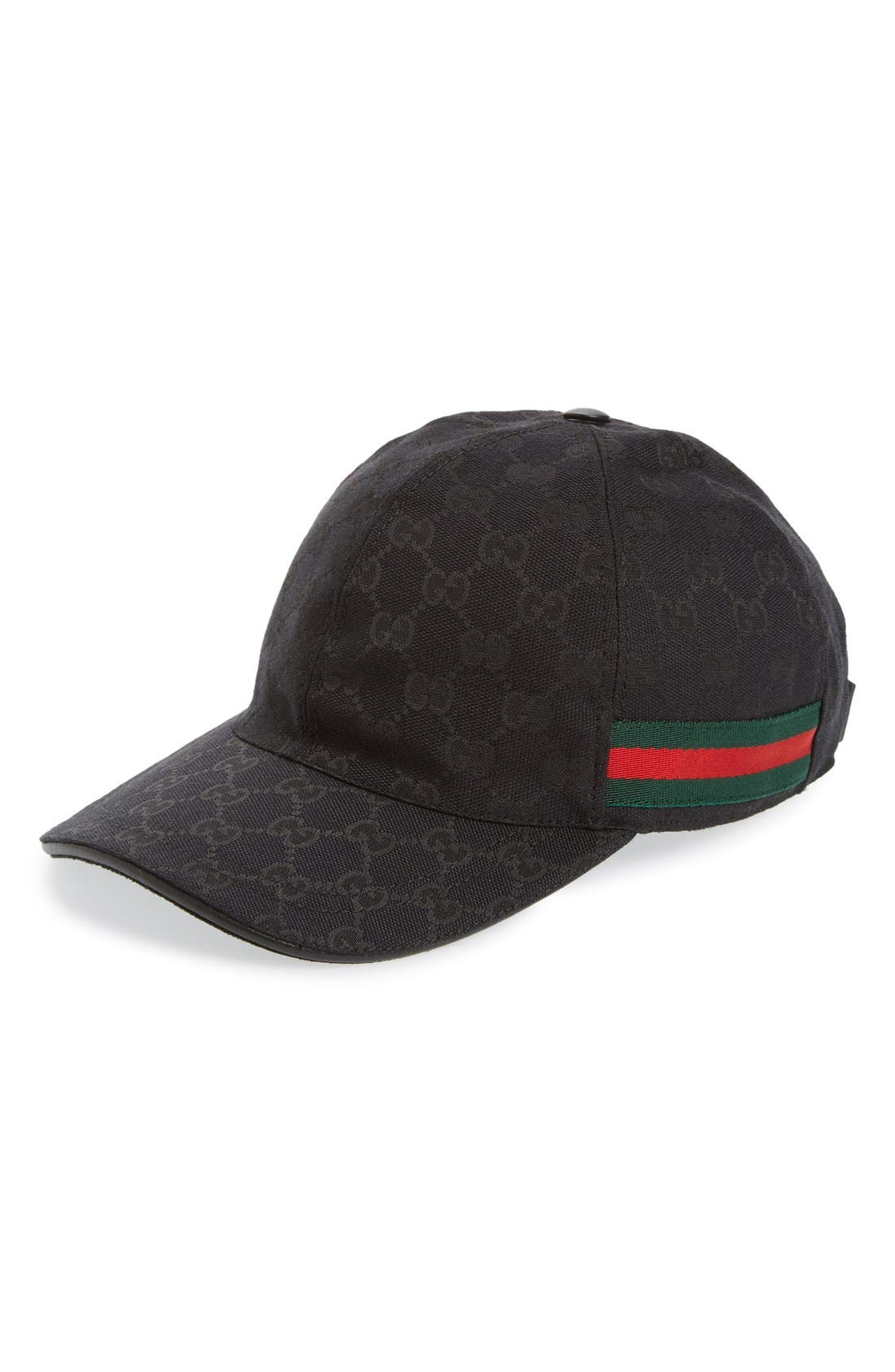 Alternate Image 1 Selected - Gucci Logo Print Baseball Cap