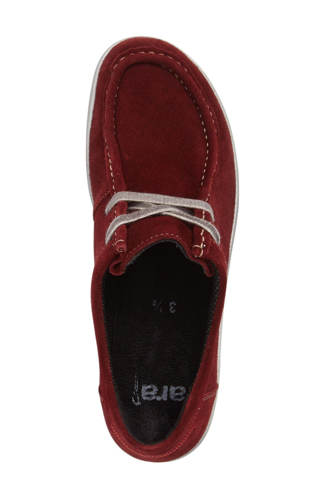 Trista Sneaker,                             Alternate thumbnail 3, color,                             Burgundy Suede