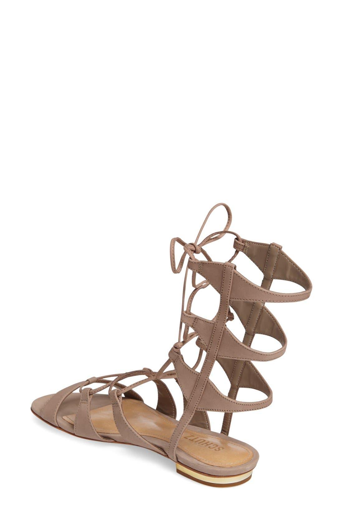 Alternate Image 2  - Schutz Erlina Lace-Up Sandal (Women)