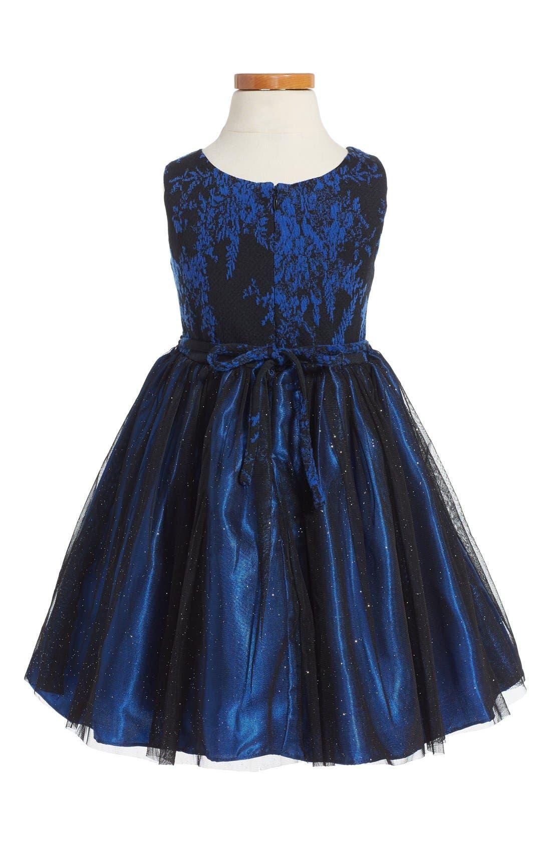 Alternate Image 2  - Sweet Heart Rose Fit & Flare Dress (Toddler Girls, Little Girls & Big Girls)