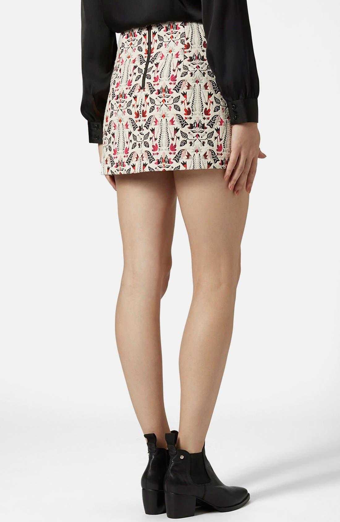 Alternate Image 2  - Topshop Jacquard Miniskirt
