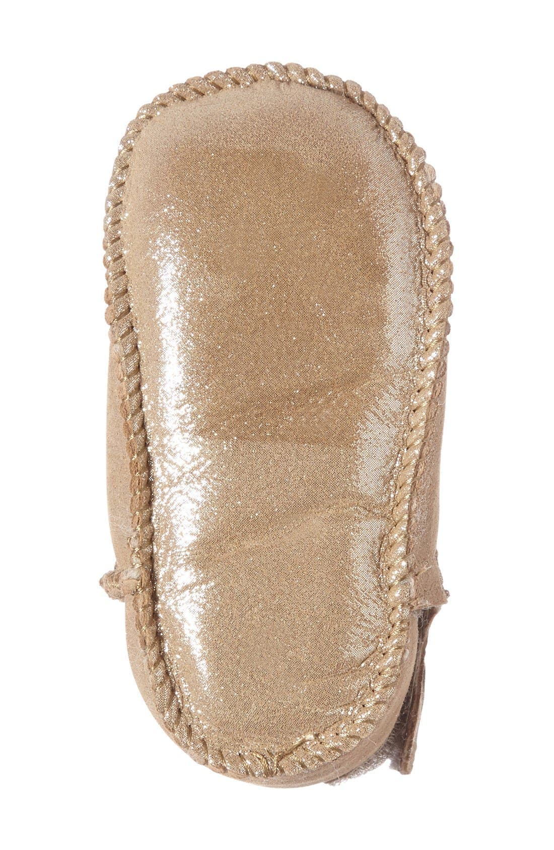 Water Resistant Metallic Bootie,                             Alternate thumbnail 4, color,                             Sand
