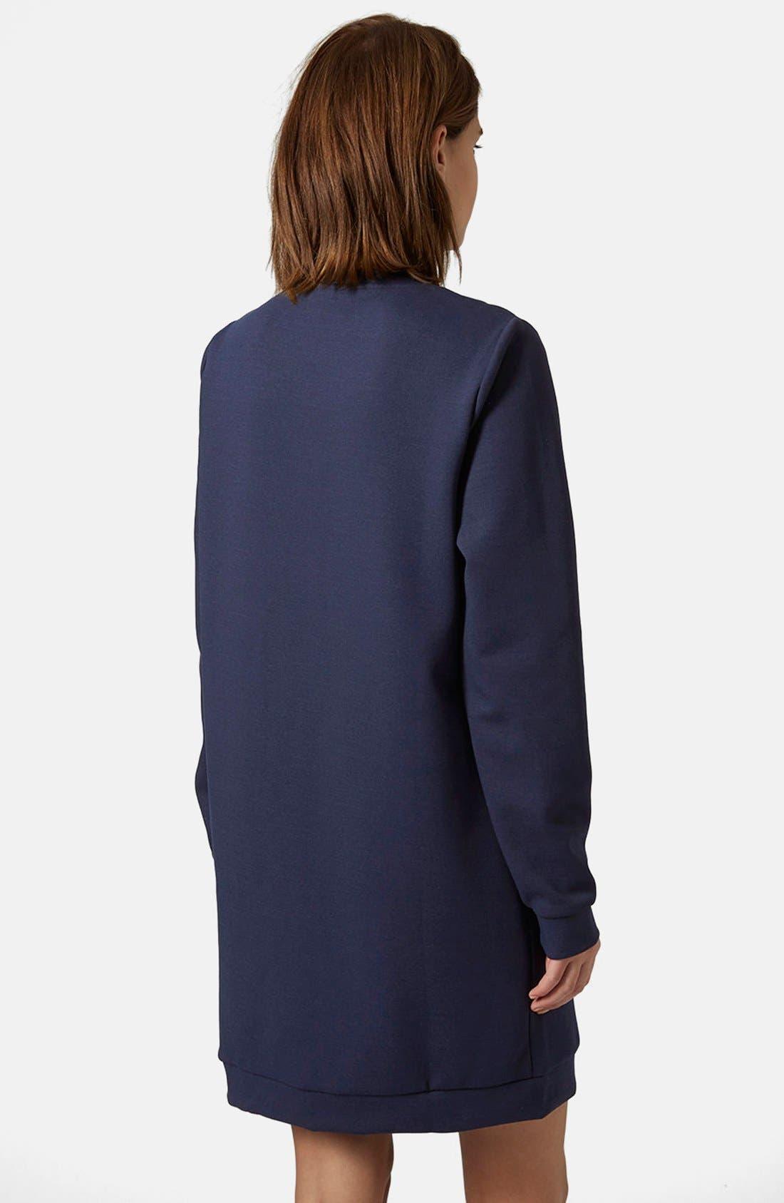 Alternate Image 2  - Topshop Quilted Sweatshirt Dress