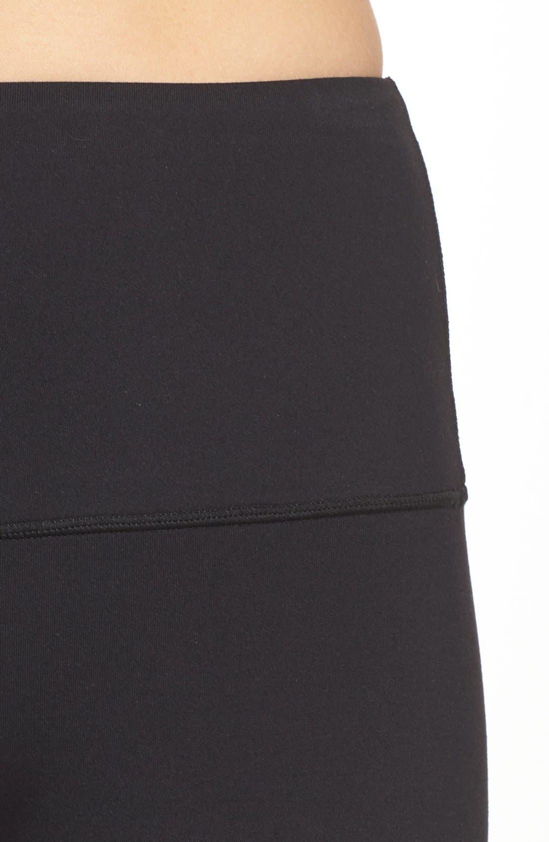'Bardot' High Waist Leggings,                             Alternate thumbnail 4, color,                             Black