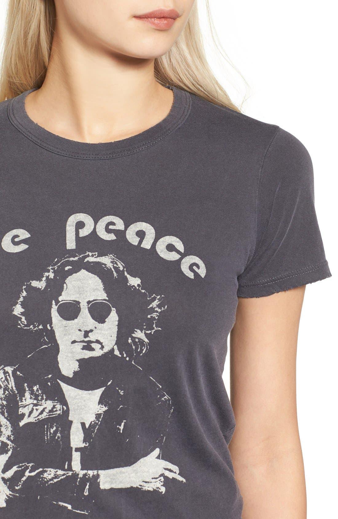 John Lennon Tee,                             Alternate thumbnail 4, color,                             Jet Black