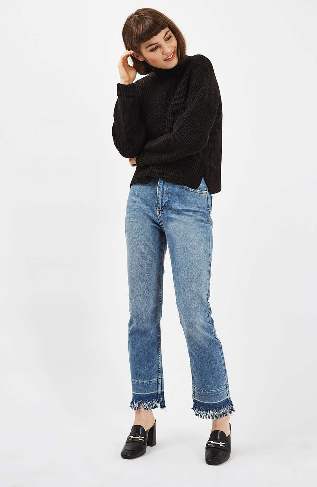 Alternate Image 2  - Topshop Ribbed Sweater