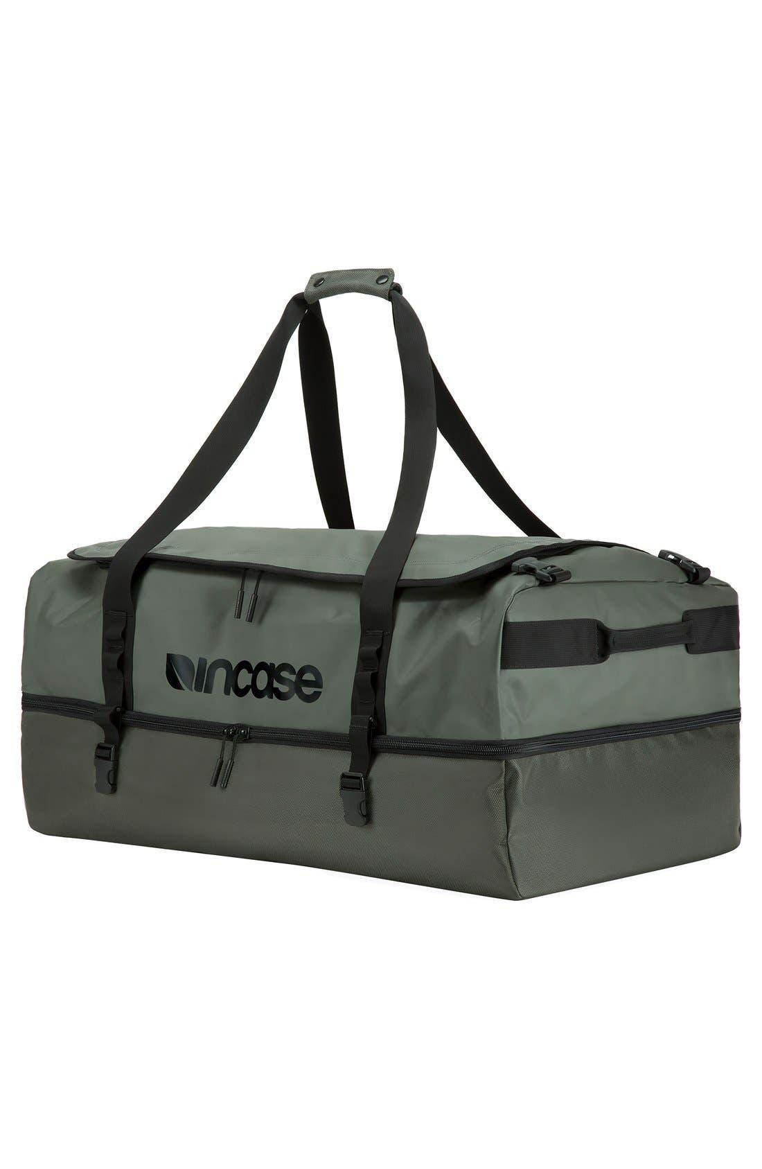 TRACTO Large Split Convertible Duffel Bag,                             Alternate thumbnail 4, color,                             Anthracite