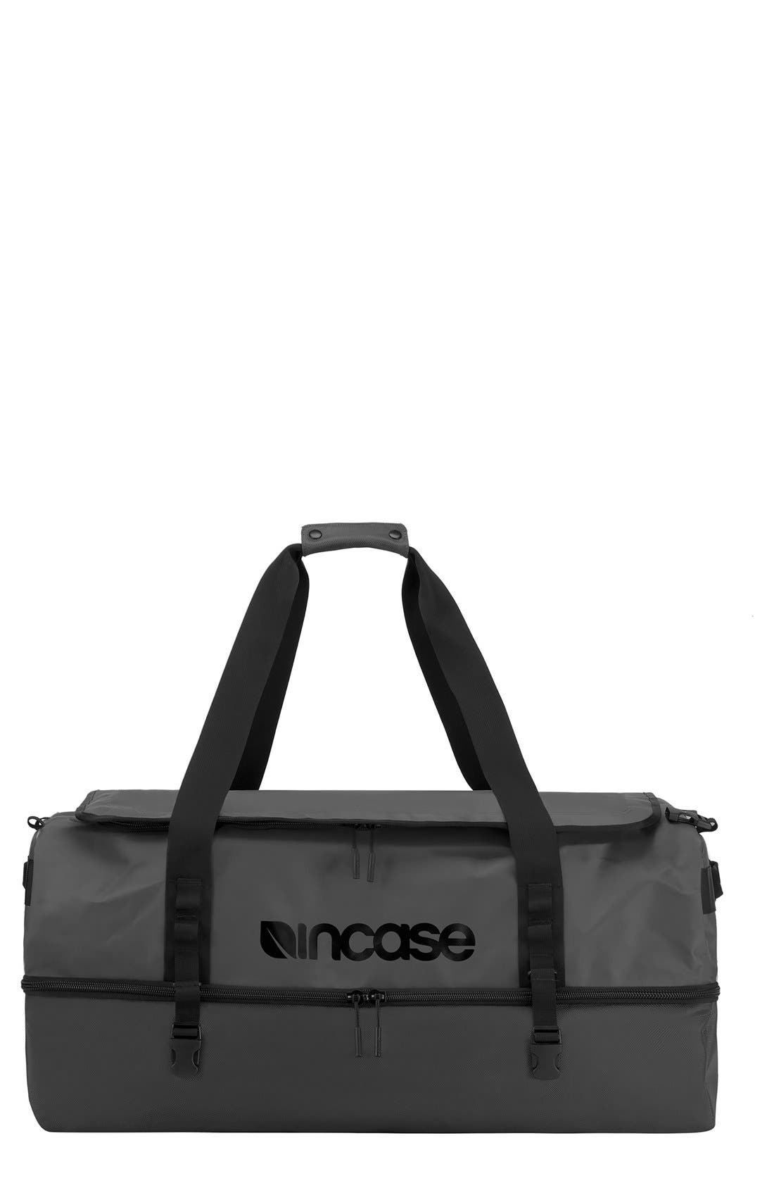 TRACTO Medium Split Convertible Duffel Bag,                             Main thumbnail 1, color,                             Black