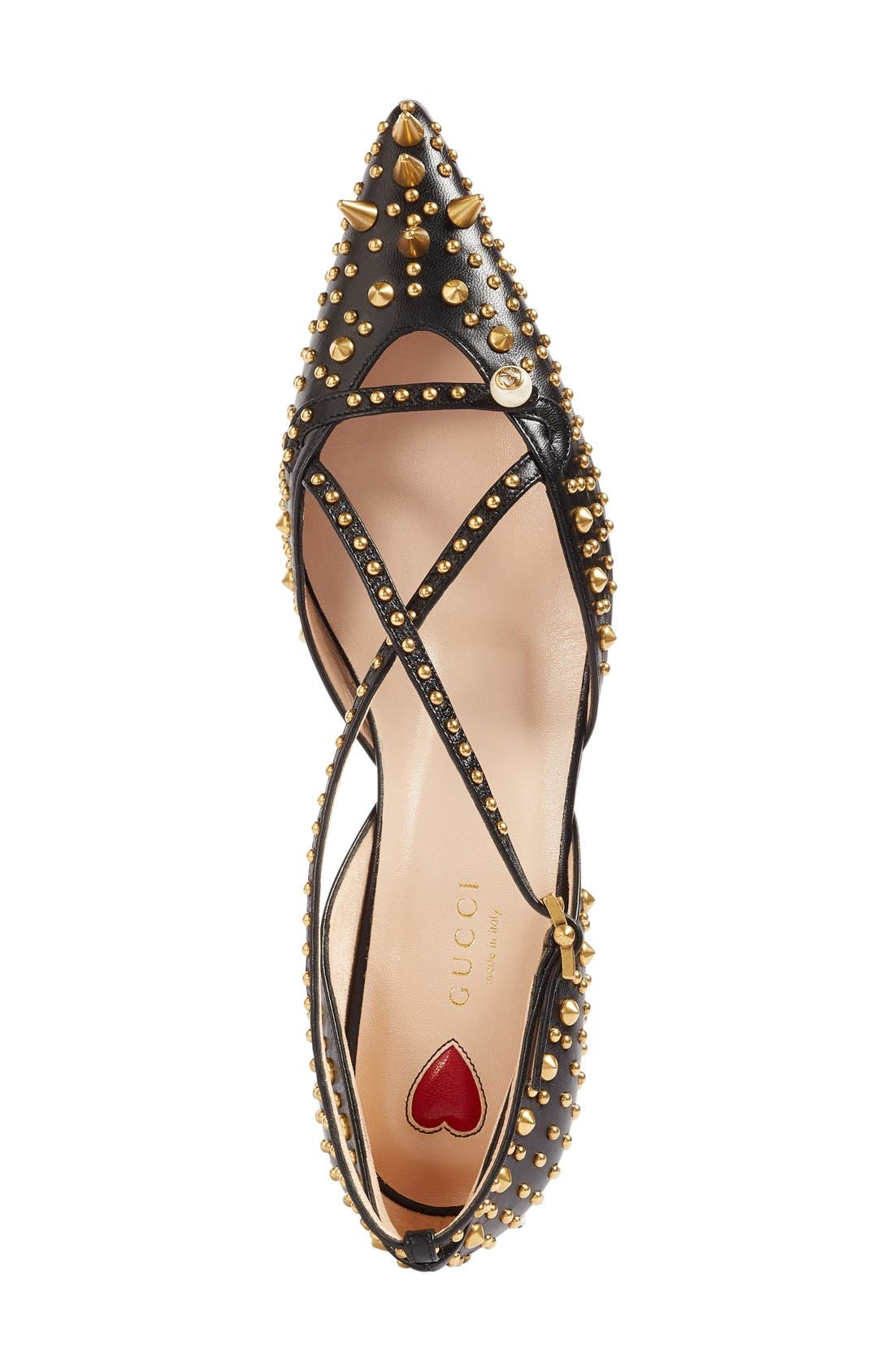 Alternate Image 3  - Gucci Unia Studded Flat (Women)