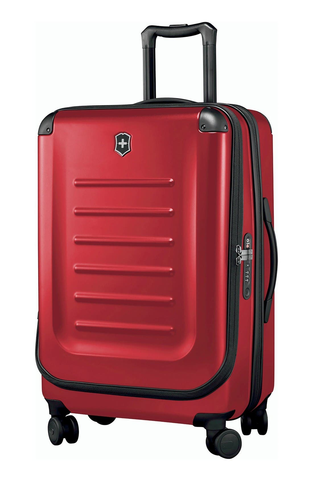 Spectra 2.0 Hard Sided Rolling 27-Inch Travel Suitcase,                         Main,                         color, Red
