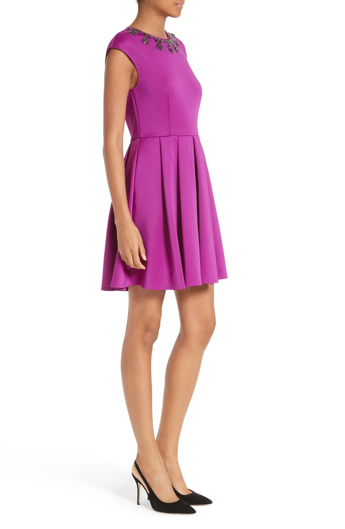 Alternate Image 3  - Ted Baker London J'adore Embellished Fit & Flare Dress