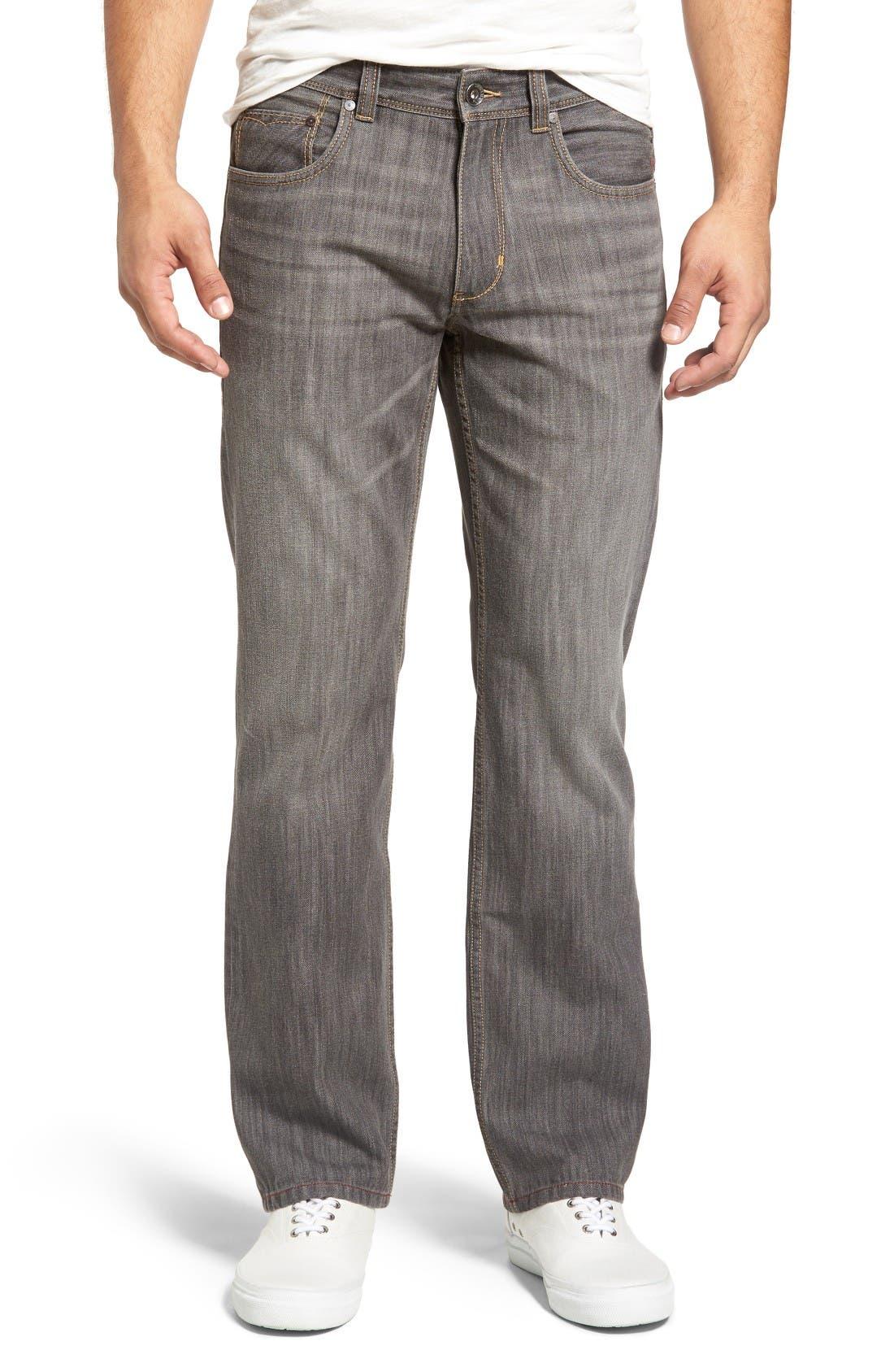 Barbados Straight Leg Jeans,                         Main,                         color, Vintage Grey Wash