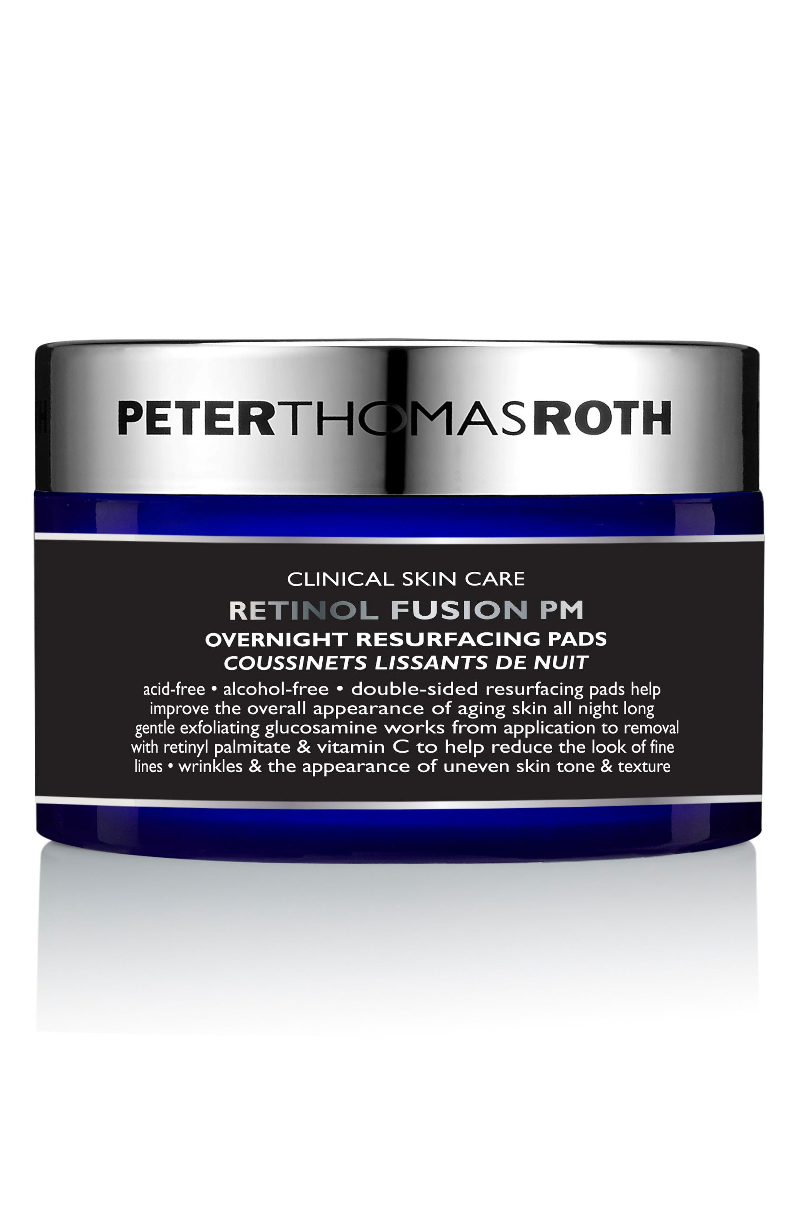 Retinol Fusion PM Overnight Resurfacing Pads,                         Main,                         color, No Color