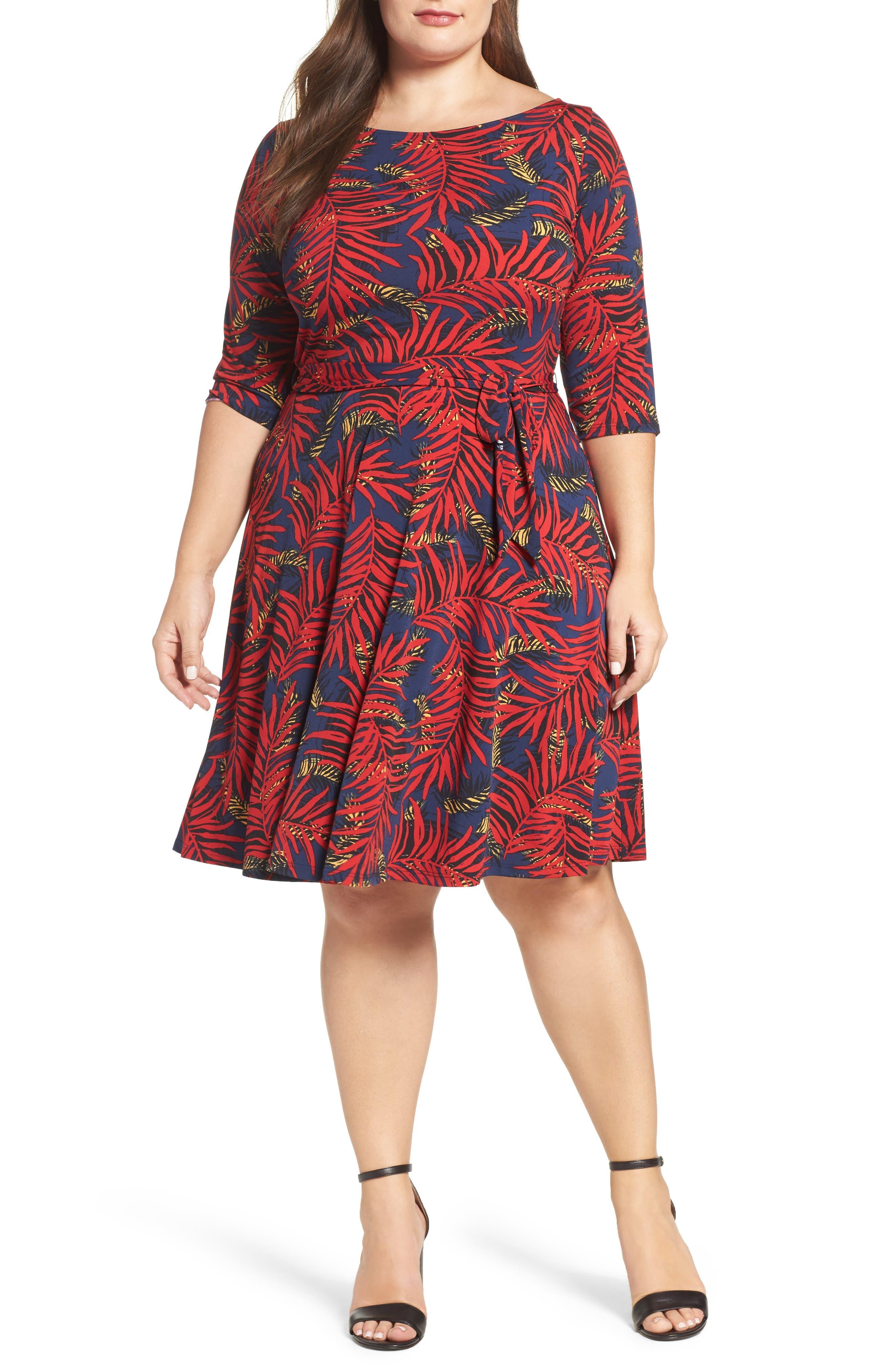 Llana Stretch Jersey Dress,                         Main,                         color, Palm
