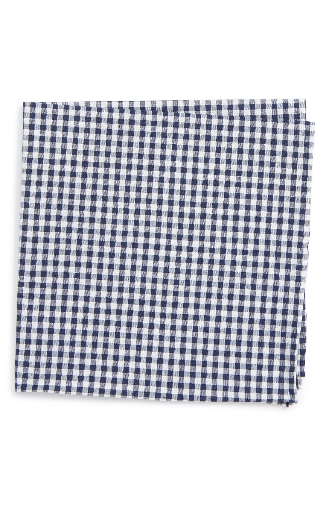 Alternate Image 1 Selected - The Tie Bar Check Cotton Pocket Square