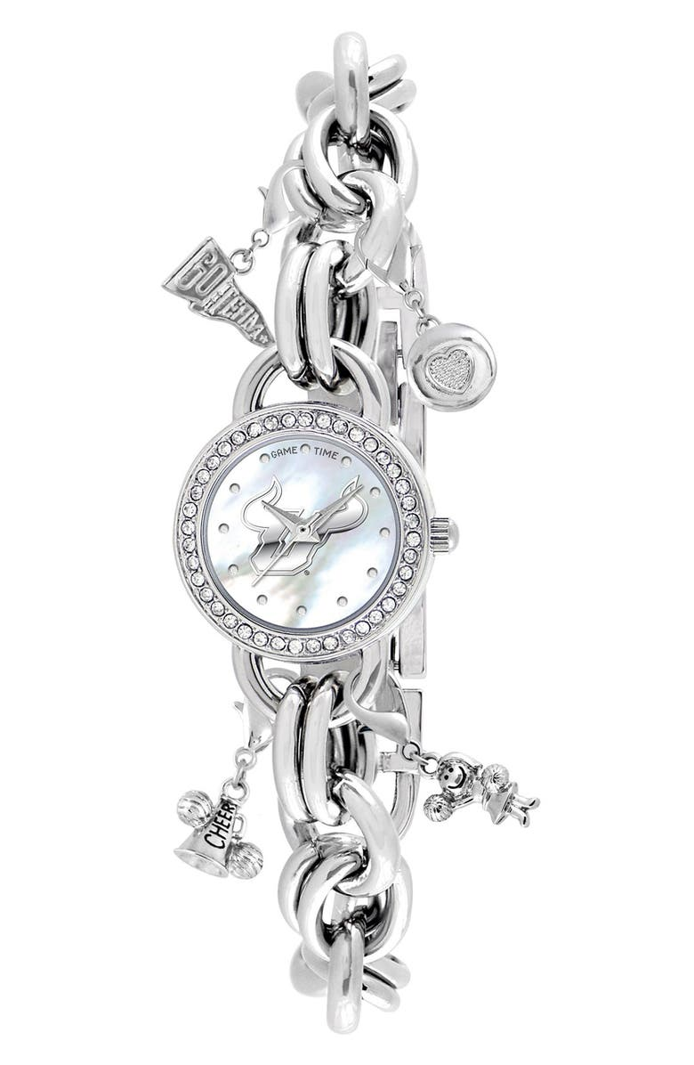College University Of South Florida Charm Bracelet Watch 23mm Main