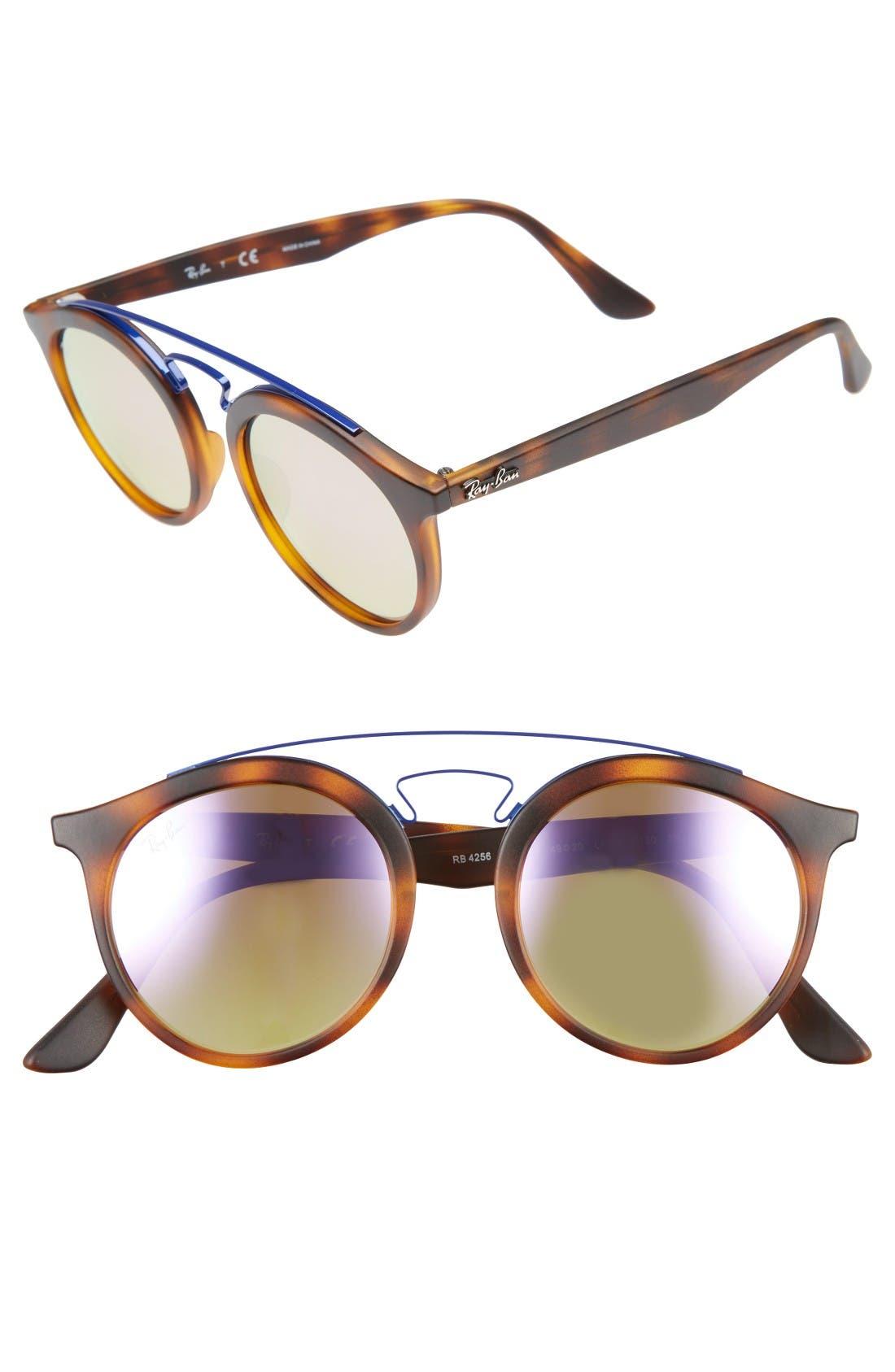 Ray-Ban Highstreet 49mm Gatsby Round Sunglasses