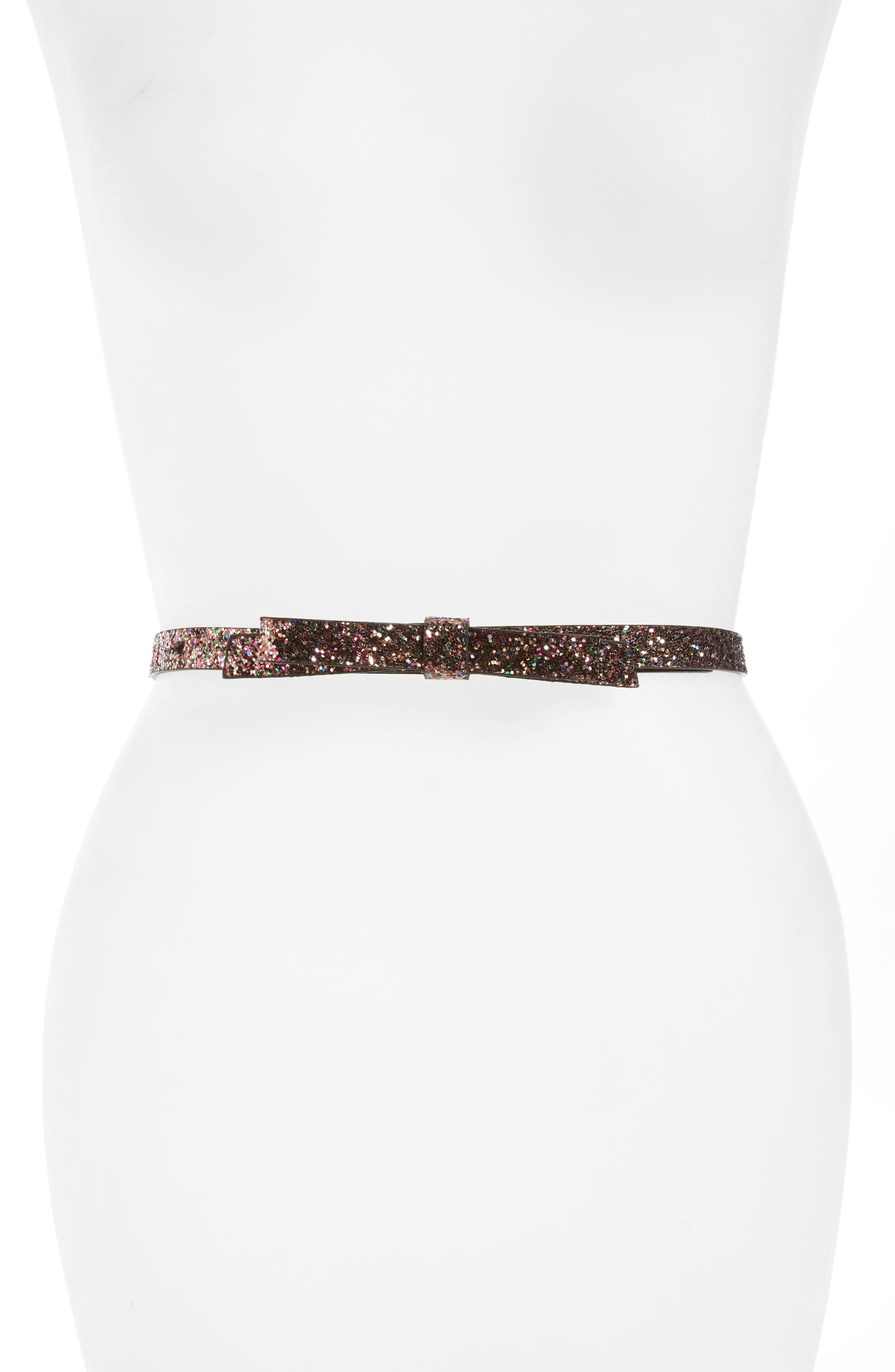 Alternate Image 1 Selected - kate spade new york glitter belt with bow