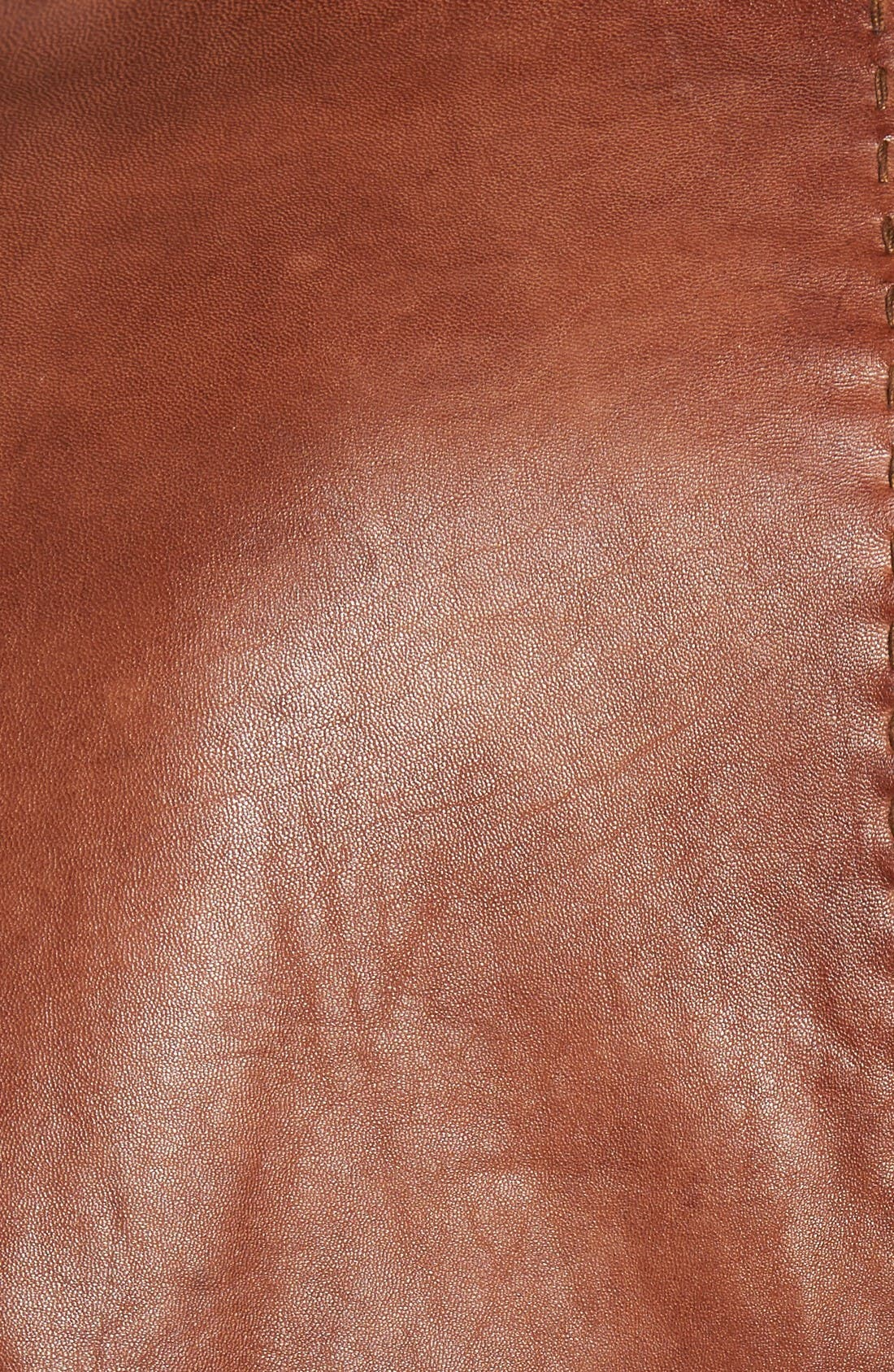 Lamb Leather Blazer,                             Alternate thumbnail 5, color,                             Cognac