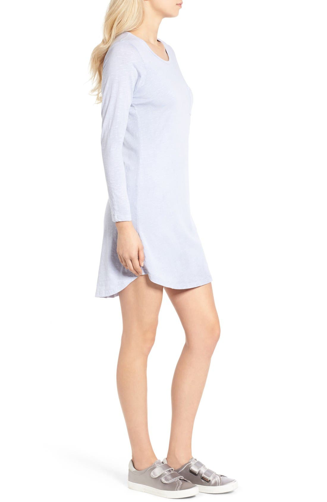Alternate Image 3  - Sundry Long Sleeve T-Shirt Dress
