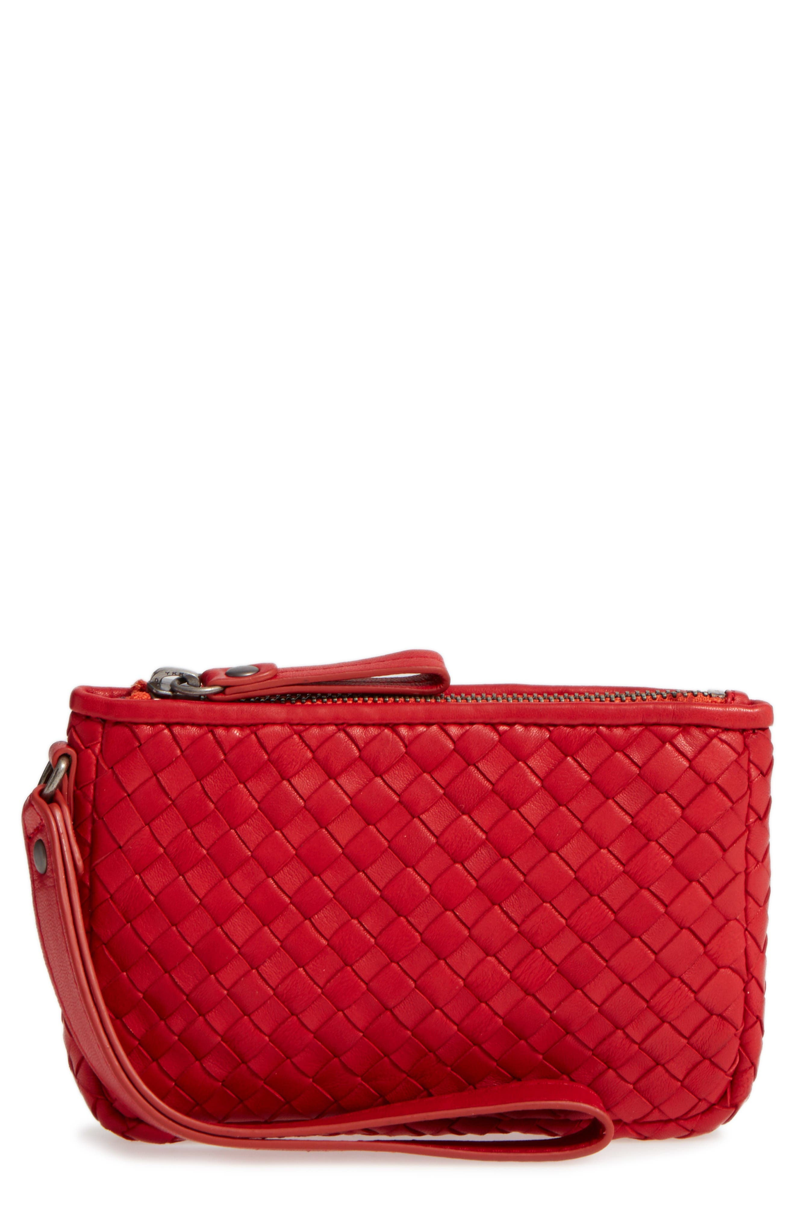 Alternate Image 1 Selected - Robert Zur Small Maya Leather Clutch