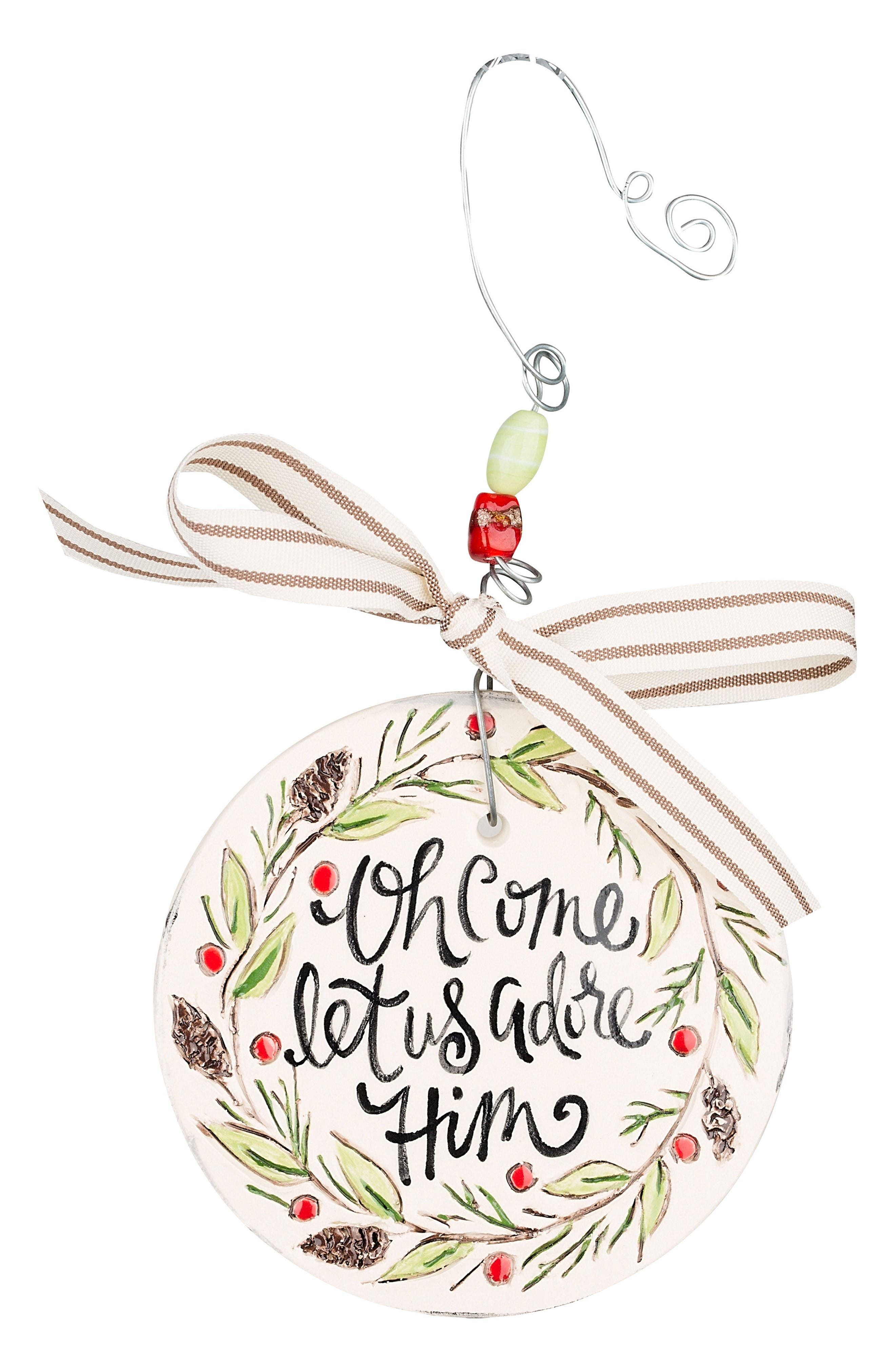 Main Image - Glory Haus Oh Come Let Us Adore Him Flat Christmas Ornament