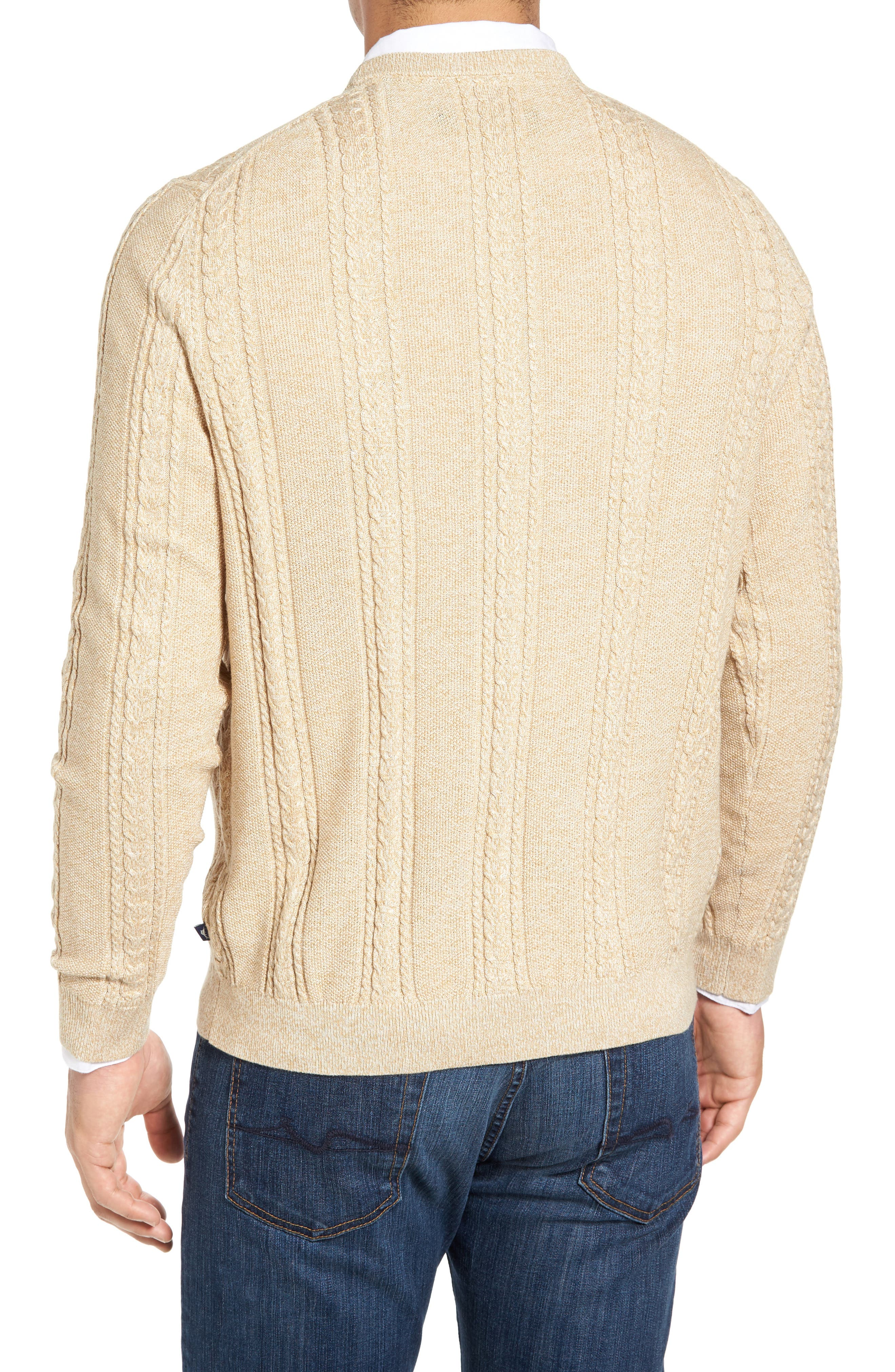 Marled Silk Blend Sweater,                             Alternate thumbnail 2, color,                             Golden Honey