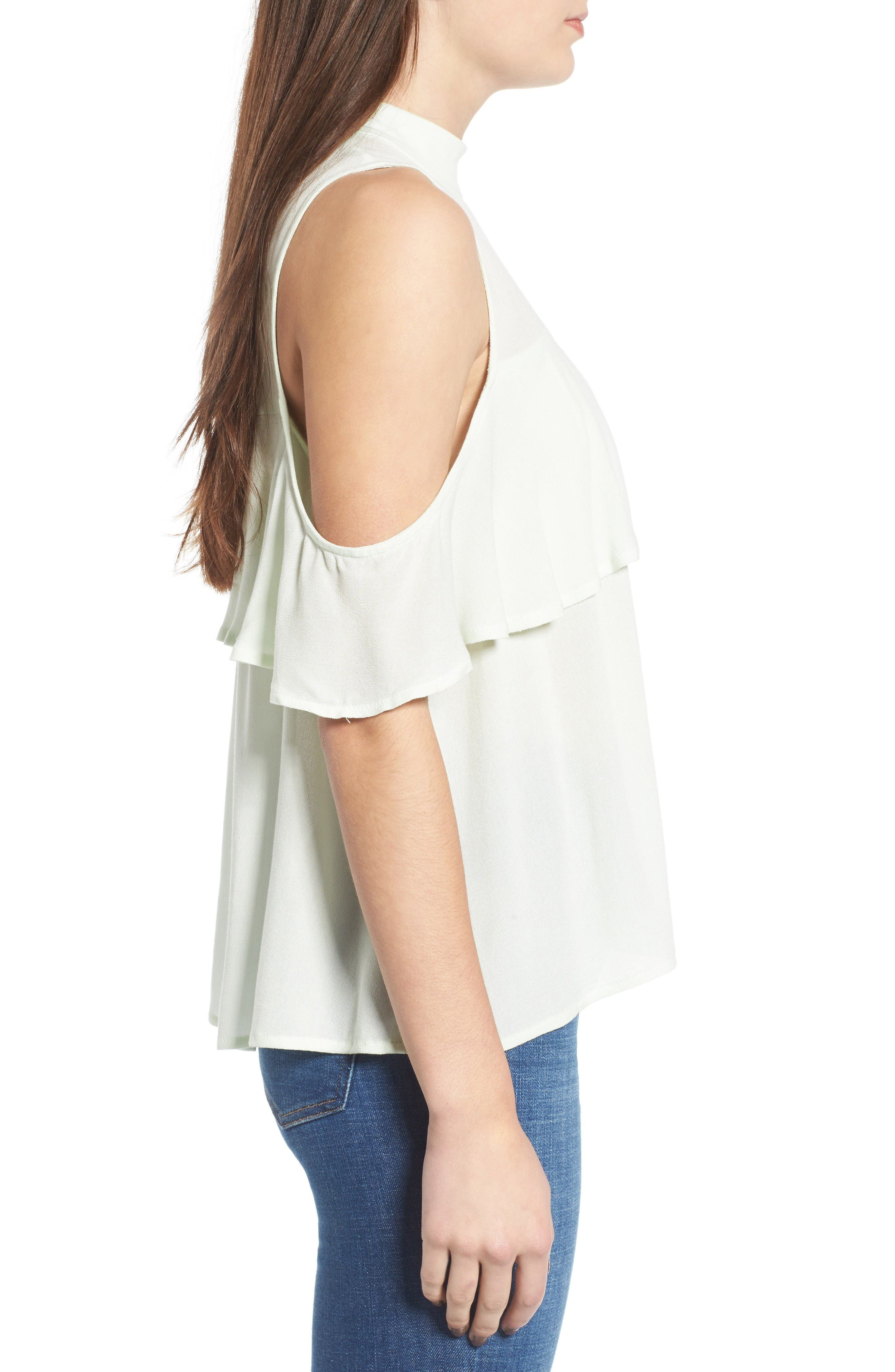 Alternate Image 3  - BP. Ruffle Cold Shoulder Top