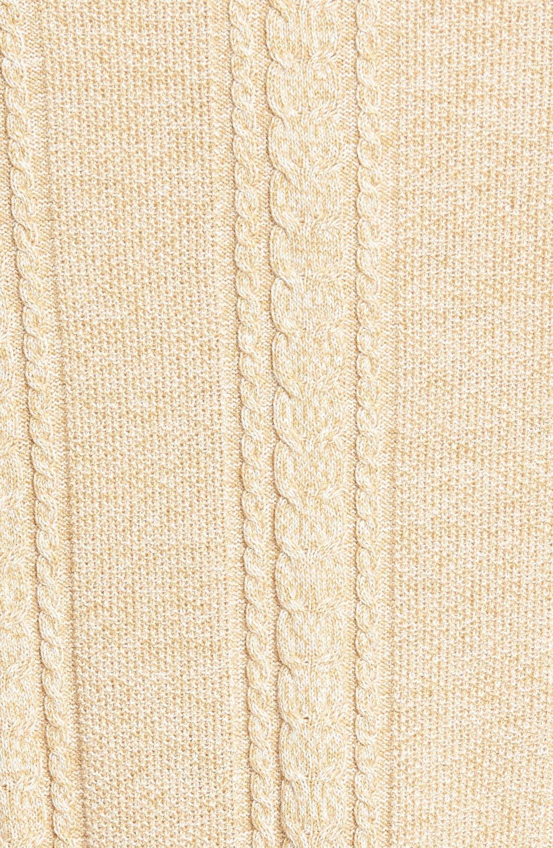 Marled Silk Blend Sweater,                             Alternate thumbnail 5, color,                             Golden Honey