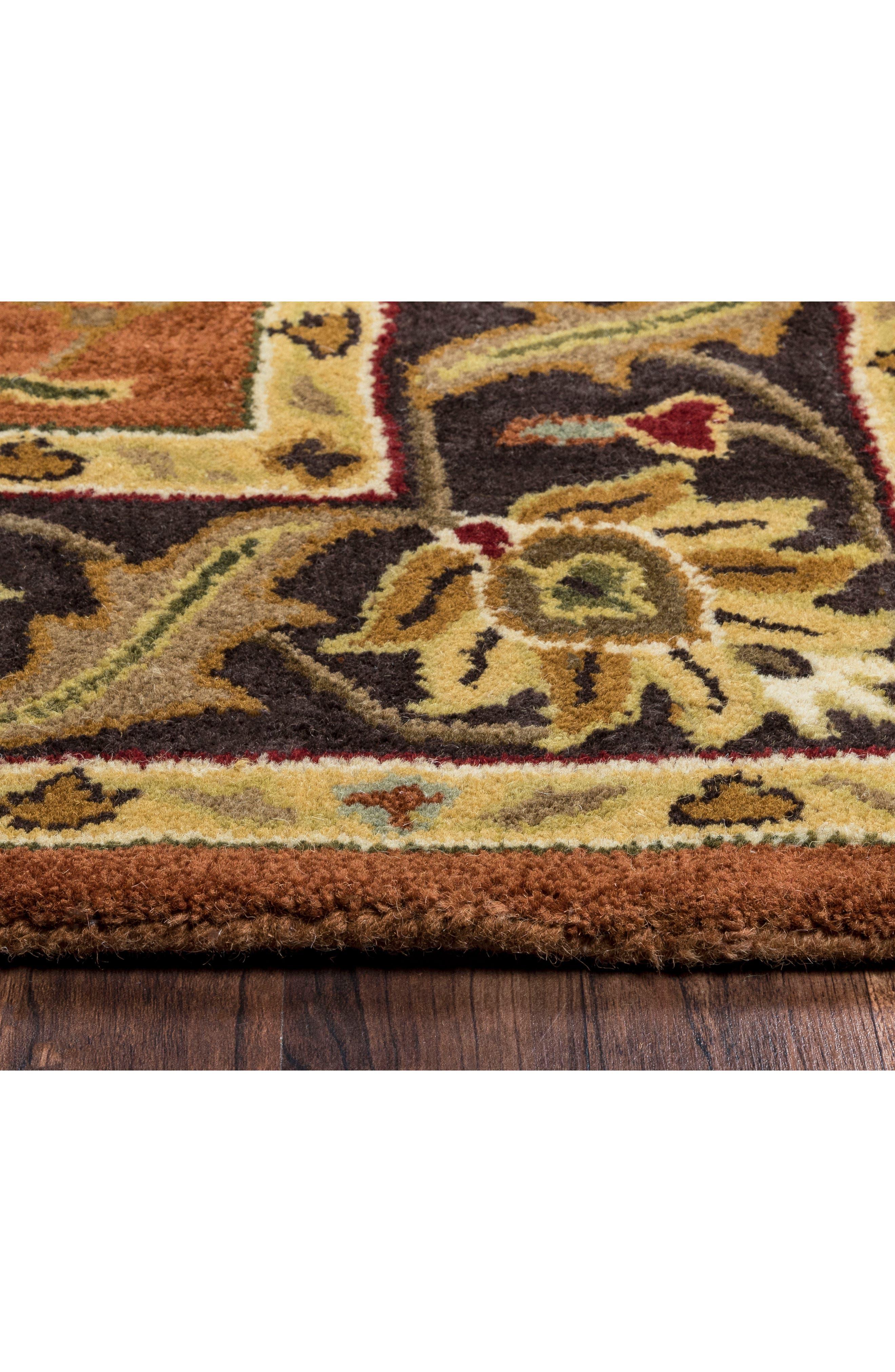 Amalia Hand Tufted Wool Area Rug,                             Alternate thumbnail 2, color,                             Rust/ Multi
