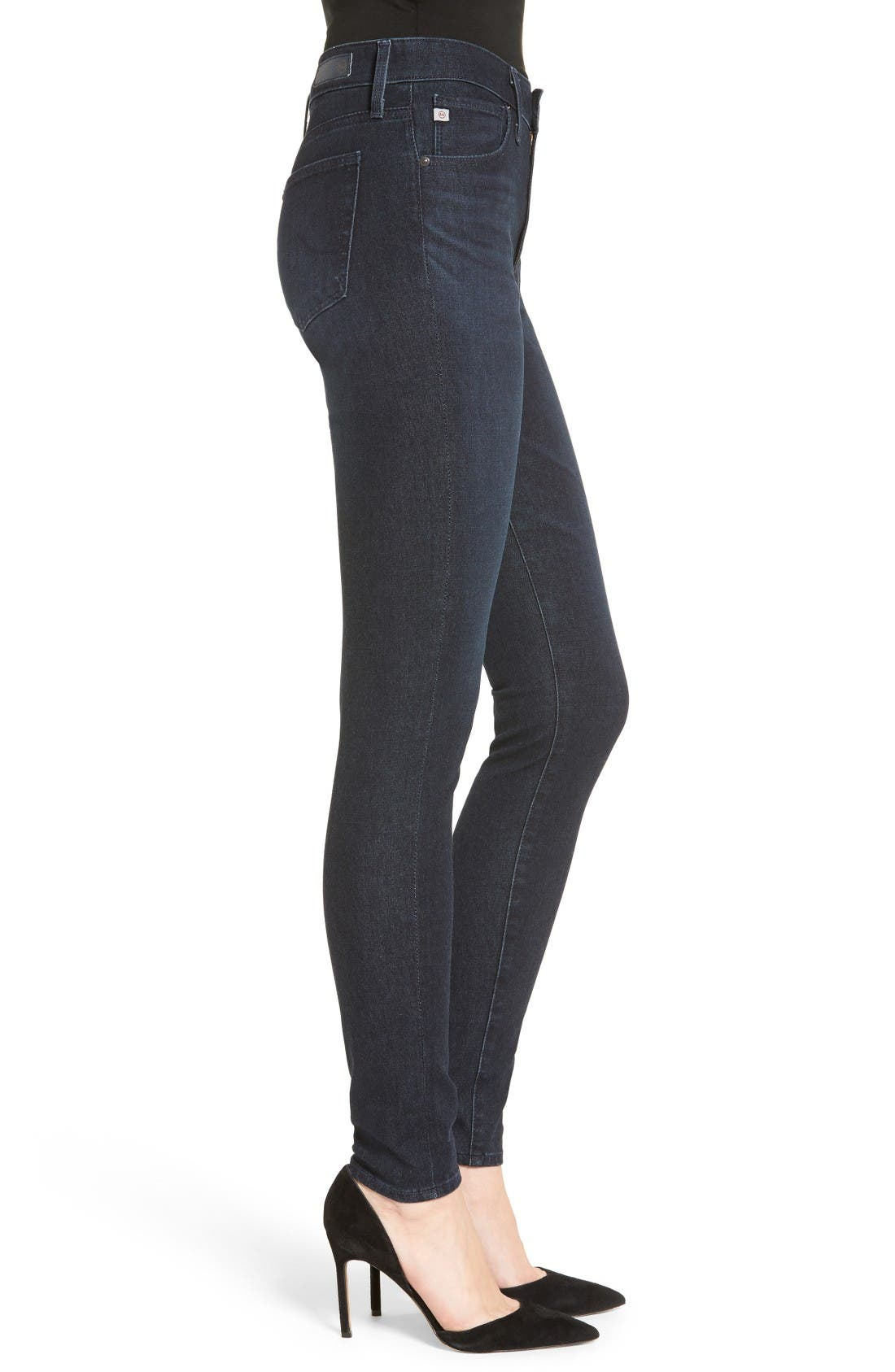 The Farrah High Waist Skinny Jeans,                             Alternate thumbnail 3, color,                             Meditation