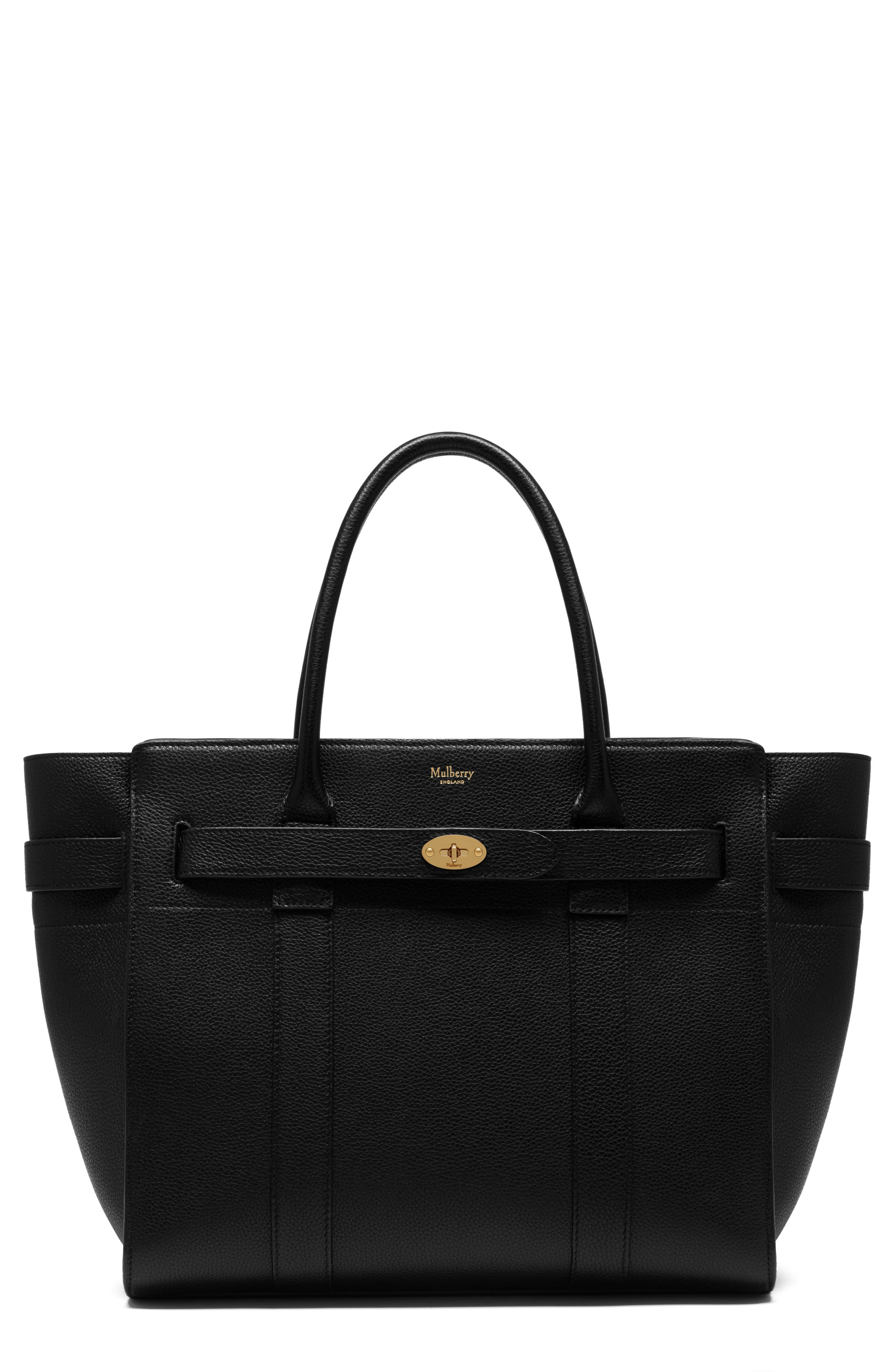Mulberry Zipped Bayswater Leather Satchel