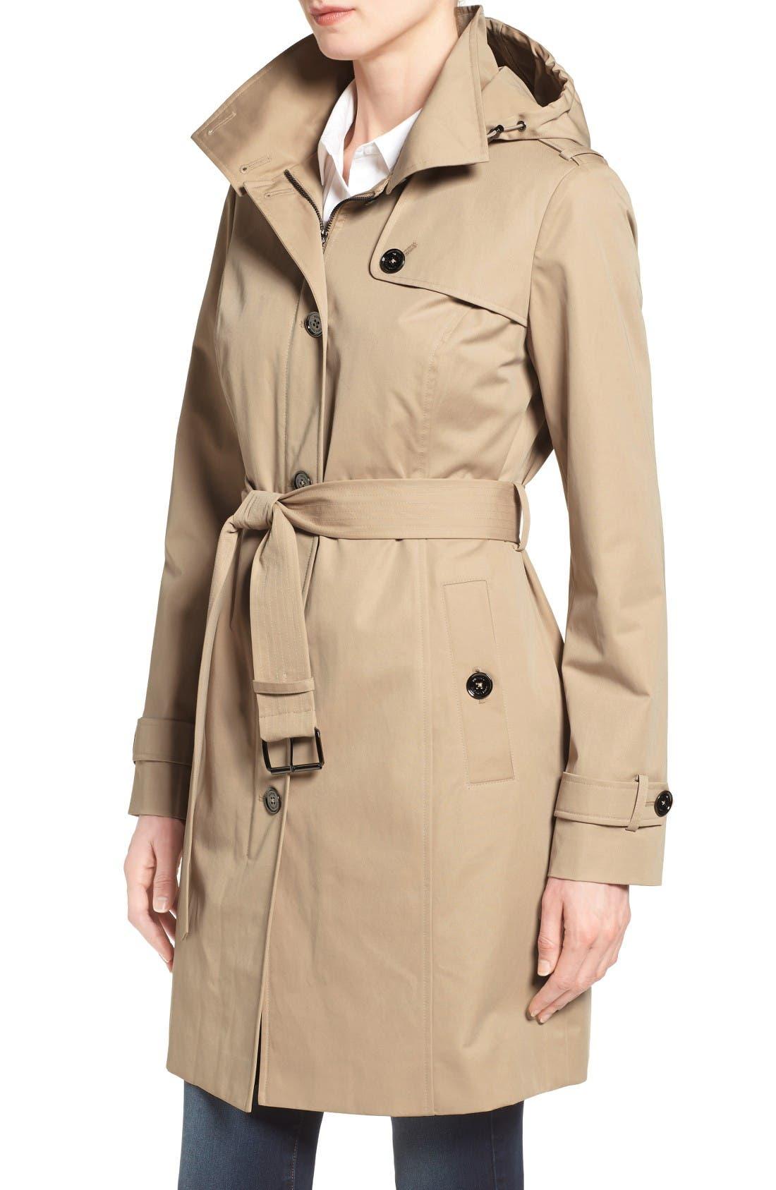 Alternate Image 3  - MICHAEL Michael Kors Hooded Trench Coat (Regular & Petite)