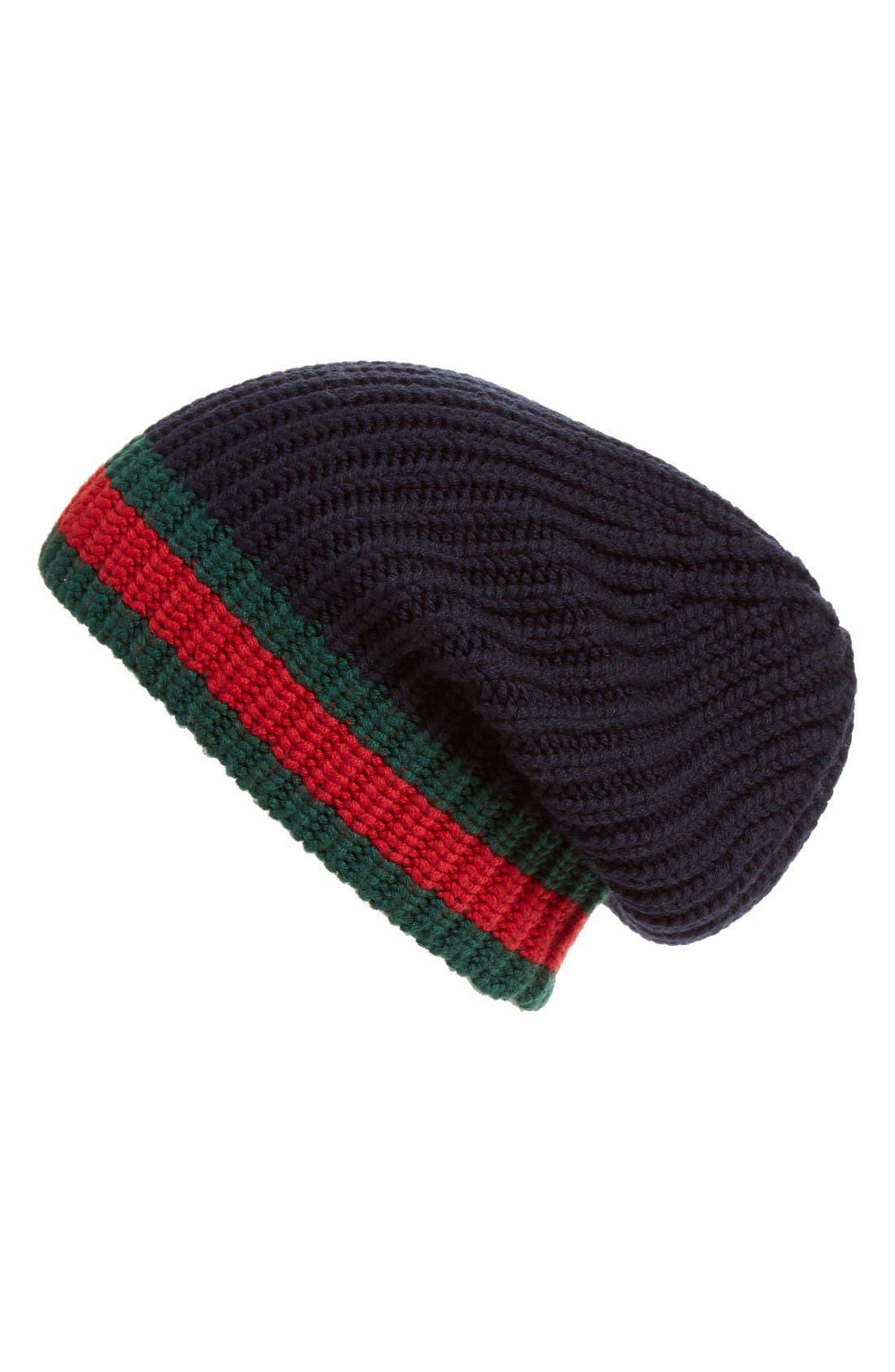 Alternate Image 1 Selected - Gucci Stripe Wool Beanie