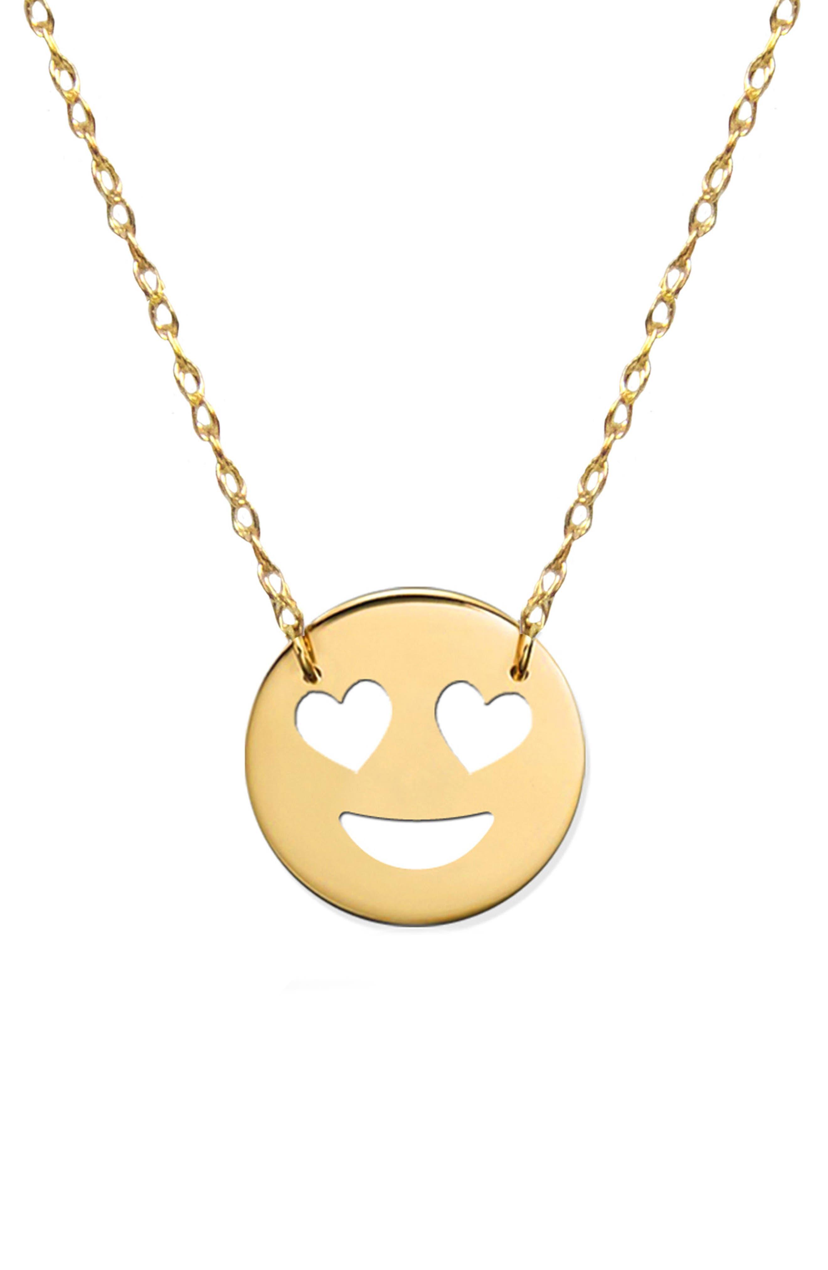 Jane Basch Designs Love Emoji Pendant Necklace (Nordstrom Exclusive)