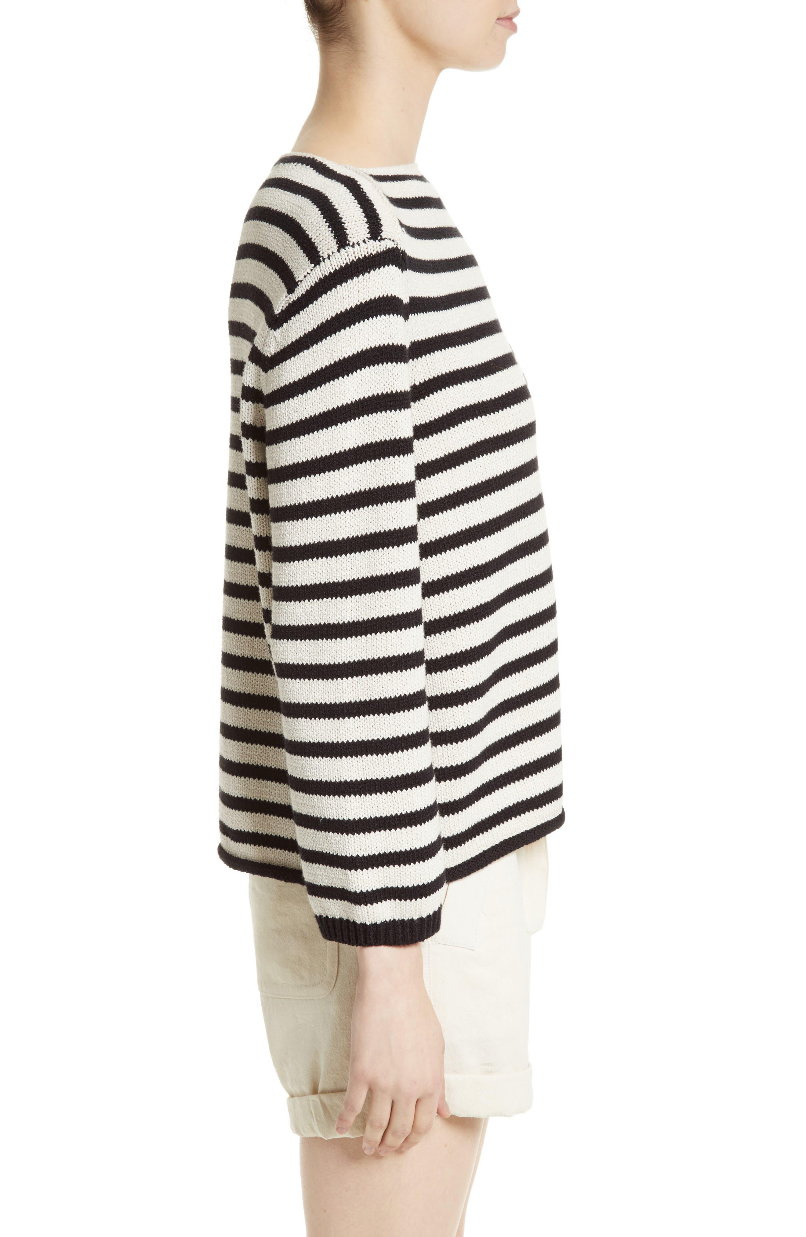 Alternate Image 3  - Vince Stripe Cotton Blend Pullover