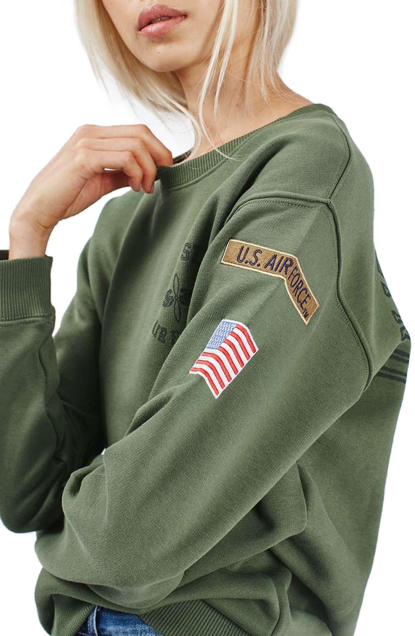 Alternate Image 4  - Topshop by Tee & Cake Air Force Sweatshirt