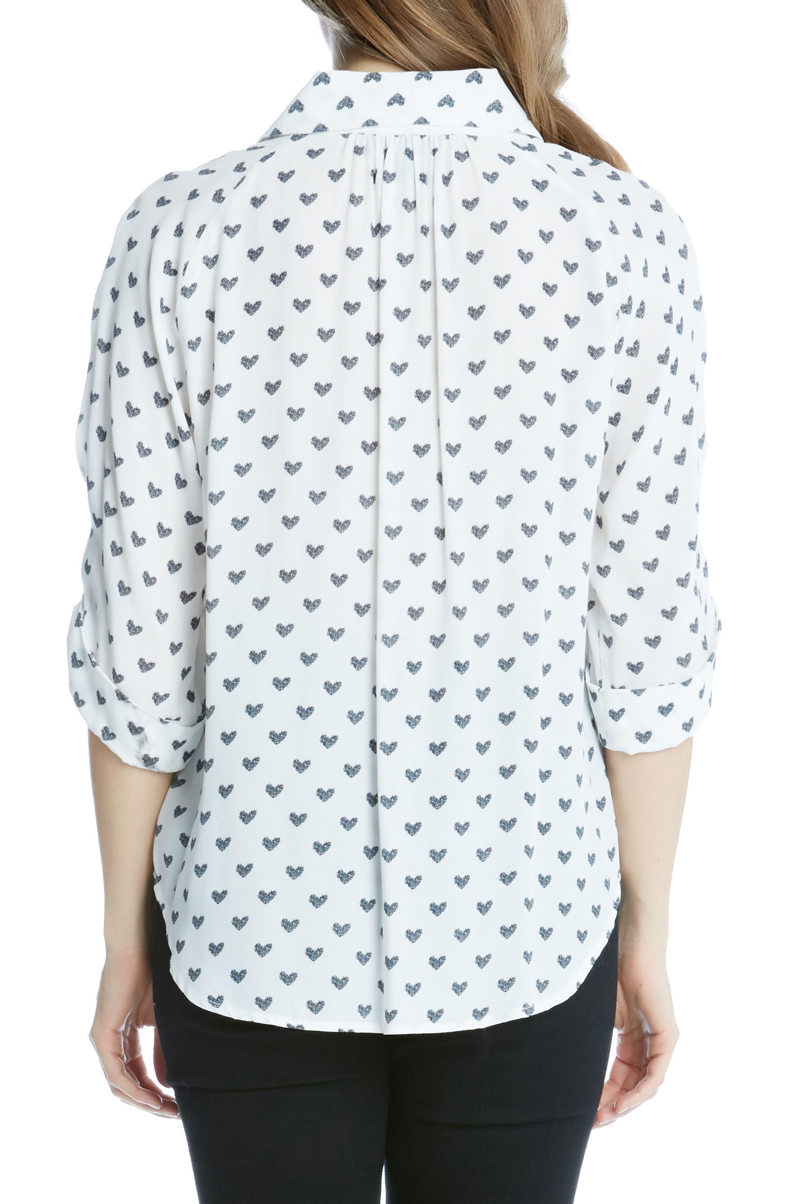 Alternate Image 2  - Karen Kane Heart Print Shirt