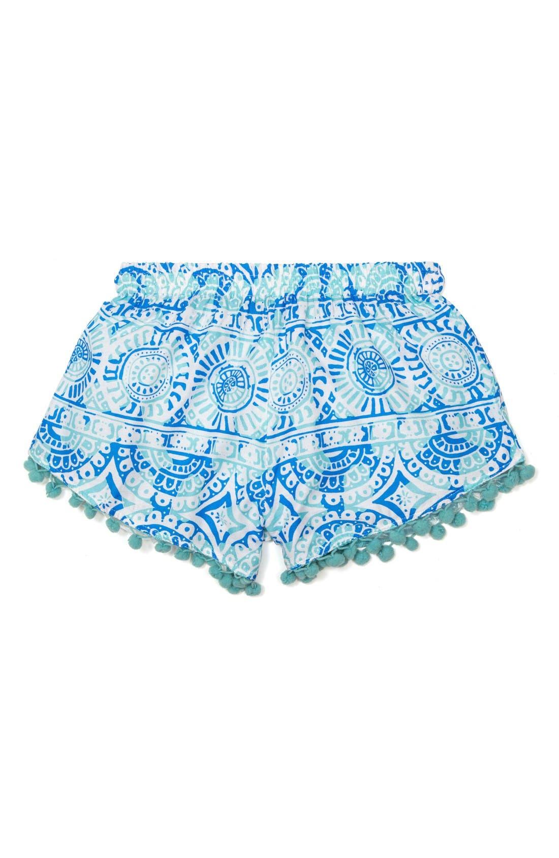 Alternate Image 1 Selected - Masalababy Pompom Shorts (Toddler Girls, Little Girls & Big Girls)