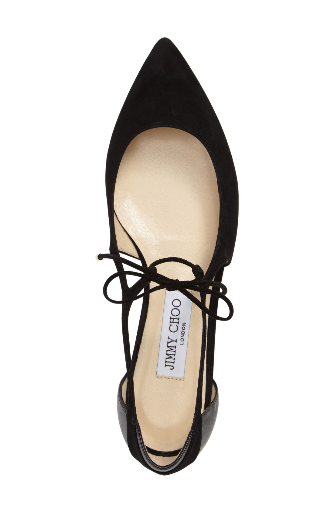 Alternate Image 3  - Jimmy Choo Vanessa Lace-Up Flat (Women)