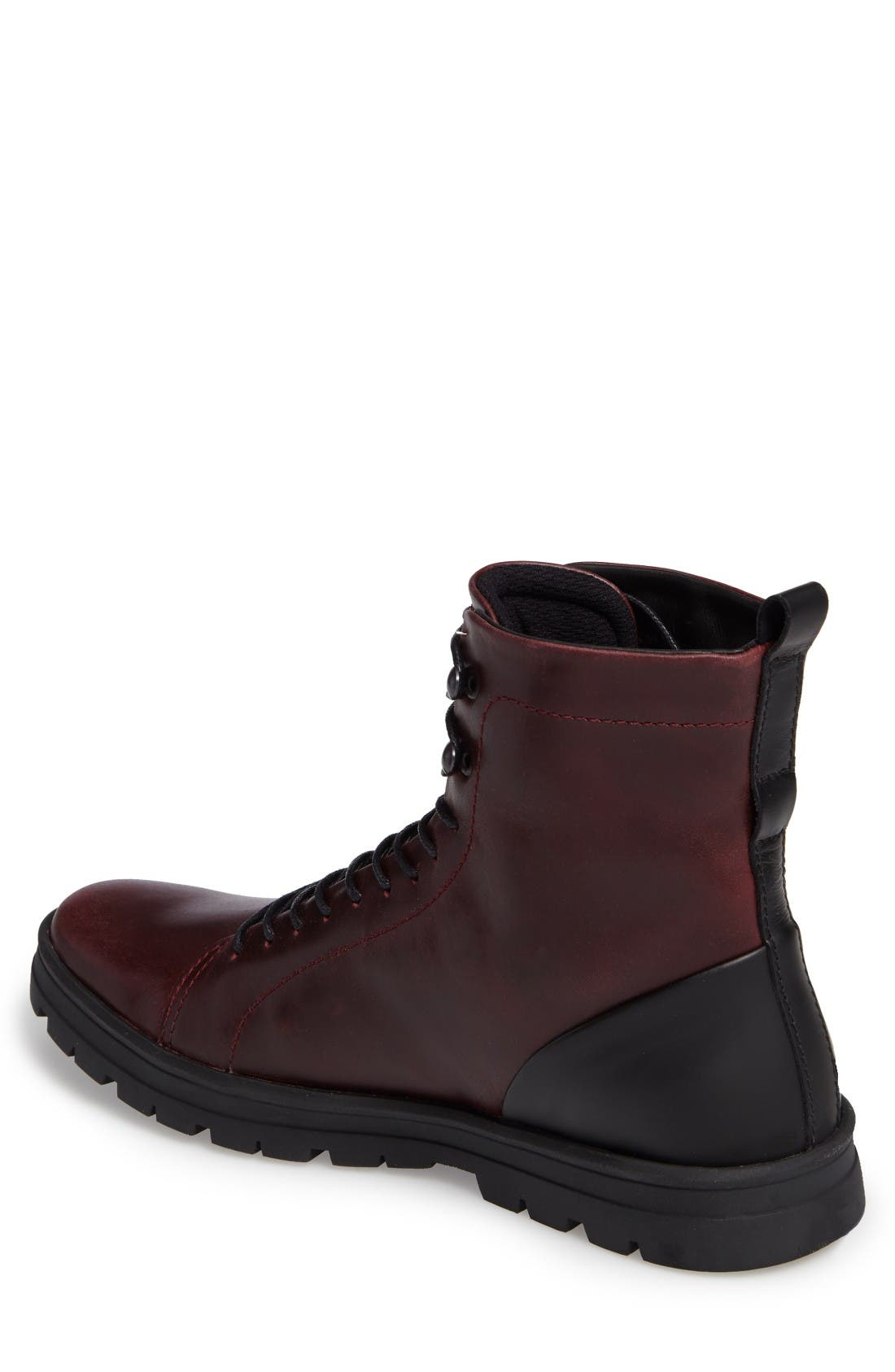 Hudson Waterproof Tall Boot,                             Alternate thumbnail 2, color,                             Bordeaux Leather