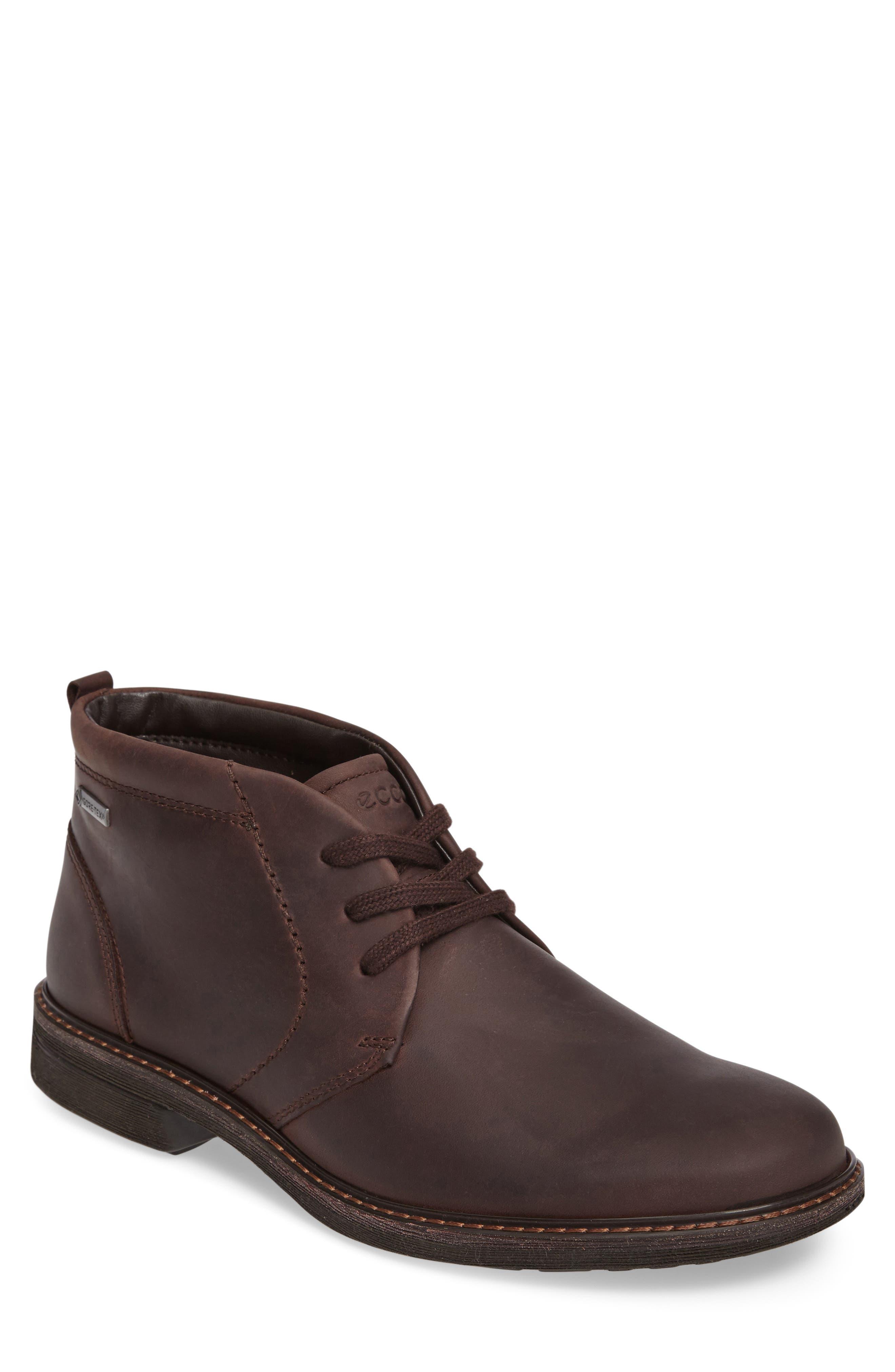 Turn Gore-Tex<sup>®</sup> Waterproof Chukka Boot,                             Main thumbnail 1, color,                             Mocha Nubuck Leather